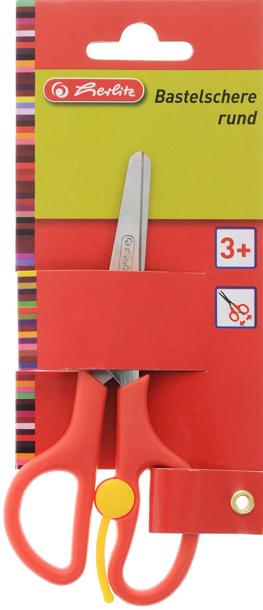 Herlitz Ножницы детские цвет красный 13 смFS-54104Детские ножницы Herlitz с закругленными концами отлично подойдут для детского творчества или рукоделия.Лезвия выполнены из нержавеющей стали и снабжены сантиметровой шкалой. Пластиковые ручки имеют эргономичную форму. Оснащены вспомогательной пружинкой, которая самостоятельно раскрывает ножницы во время работы, что облегчает вырезание и снижает усталость руки ребенка.Предназначены для детей в возрасте от трех лет.
