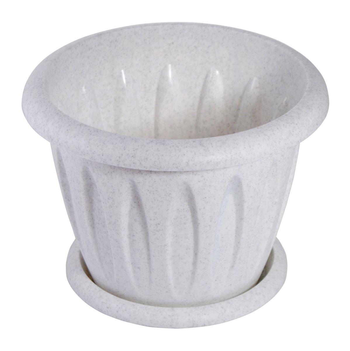 Горшок для цветов Martika Фелиция, с поддоном, цвет: мрамор, 900 мл531-101Горшок Martika Фелиция изготовлен из высококачественного пластика и оснащен поддоном для стока воды.Изделие прекрасно подойдет для выращивания растений дома и на приусадебных участках. Диаметр (по верхнему краю): 14,1 см.Высота: 10,9 см.