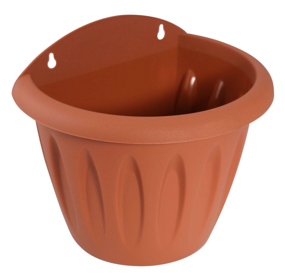 Кашпо настенное Martika Фелиция, цвет: терракотовый, 20 х 14,6 х 17,3 см531-401Настенное кашпо Martika Фелиция изготовлено из высококачественного пластика и имеет два удобных отверстия для крепления.Изделие прекрасно подойдет для выращивания растений дома и на приусадебных участках. Размер изделия: 20 х 14,6 х 17,3 см.