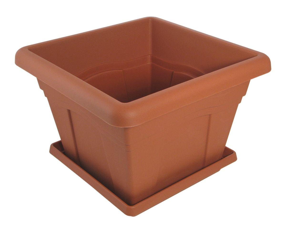 Горшок для цветов Martika Квадро, с поддоном, цвет: терракотовый, 2,9 л531-103Горшок Martika Квадро изготовлен из высококачественного пластика и оснащен поддоном для стока воды.Изделие прекрасно подойдет для выращивания растений дома и на приусадебных участках. Размеры изделия: 20 х 20 х 14,7 см.
