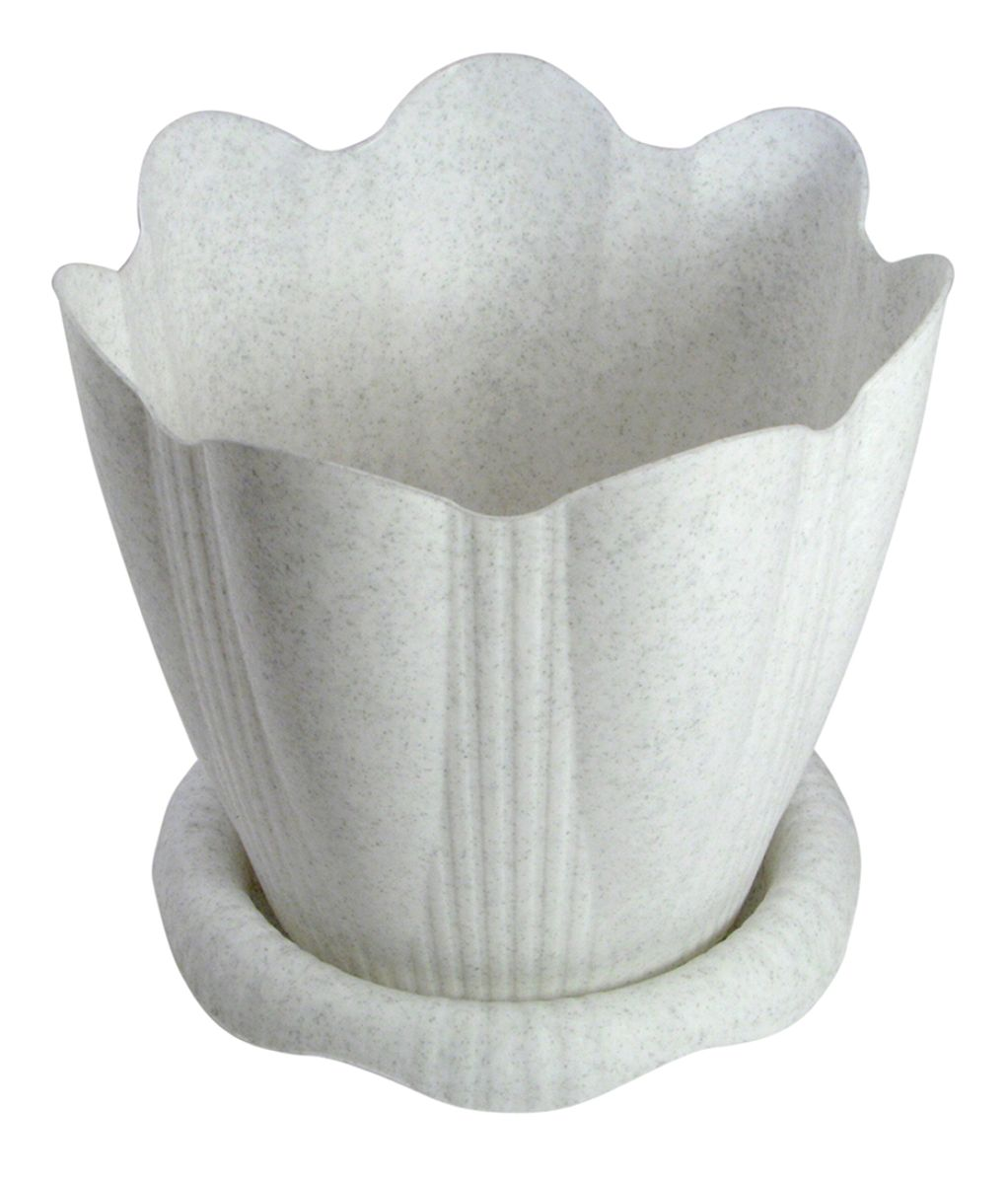 Горшок для цветов Martika Эдельвейс, с поддоном, цвет: мрамор, 5,3 лПИ-20-1ТХЛюбой, даже самый современный и продуманный интерьер будет не завершённым без растений. Они не только очищают воздух и насыщают его кислородом, но и заметно украшают окружающее пространство. Такому полезному &laquo члену семьи&raquoпросто необходимо красивое и функциональное кашпо, оригинальный горшок или необычная ваза! Мы предлагаем - Горшок Эдельвейс с поддоном 5,3 л d=24 см, цвет мрамор!Оптимальный выбор материала &mdash &nbsp пластмасса! Почему мы так считаем? Малый вес. С лёгкостью переносите горшки и кашпо с места на место, ставьте их на столики или полки, подвешивайте под потолок, не беспокоясь о нагрузке. Простота ухода. Пластиковые изделия не нуждаются в специальных условиях хранения. Их&nbsp легко чистить &mdashдостаточно просто сполоснуть тёплой водой. Никаких царапин. Пластиковые кашпо не царапают и не загрязняют поверхности, на которых стоят. Пластик дольше хранит влагу, а значит &mdashрастение реже нуждается в поливе. Пластмасса не пропускает воздух &mdashкорневой системе растения не грозят резкие перепады температур. Огромный выбор форм, декора и расцветок &mdashвы без труда подберёте что-то, что идеально впишется в уже существующий интерьер.Соблюдая нехитрые правила ухода, вы можете заметно продлить срок службы горшков, вазонов и кашпо из пластика: всегда учитывайте размер кроны и корневой системы растения (при разрастании большое растение способно повредить маленький горшок)берегите изделие от воздействия прямых солнечных лучей, чтобы кашпо и горшки не выцветалидержите кашпо и горшки из пластика подальше от нагревающихся поверхностей.Создавайте прекрасные цветочные композиции, выращивайте рассаду или необычные растения, а низкие цены позволят вам не ограничивать себя в выборе.