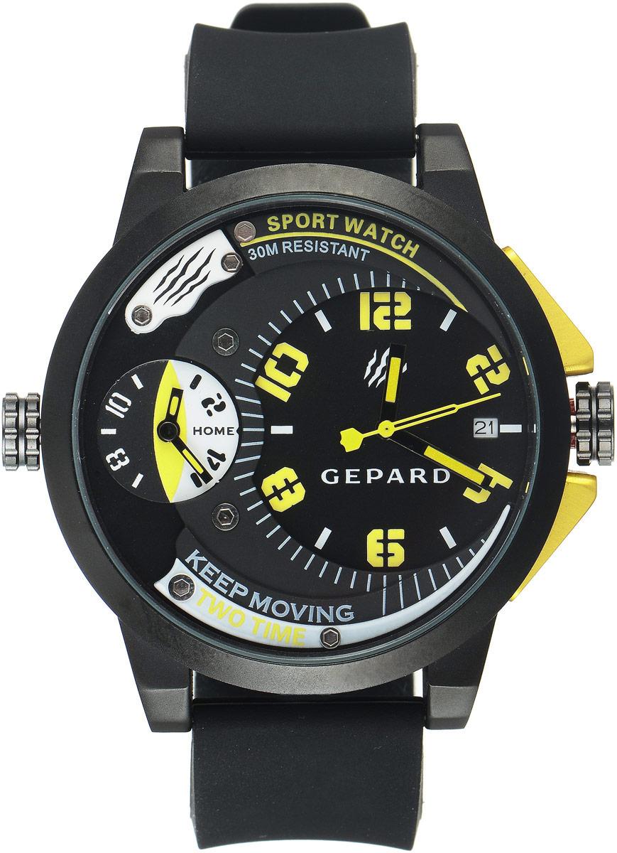 Zakazat.ru Наручные часы мужские Gepard, цвет: черный, желтый. 1221A11L6