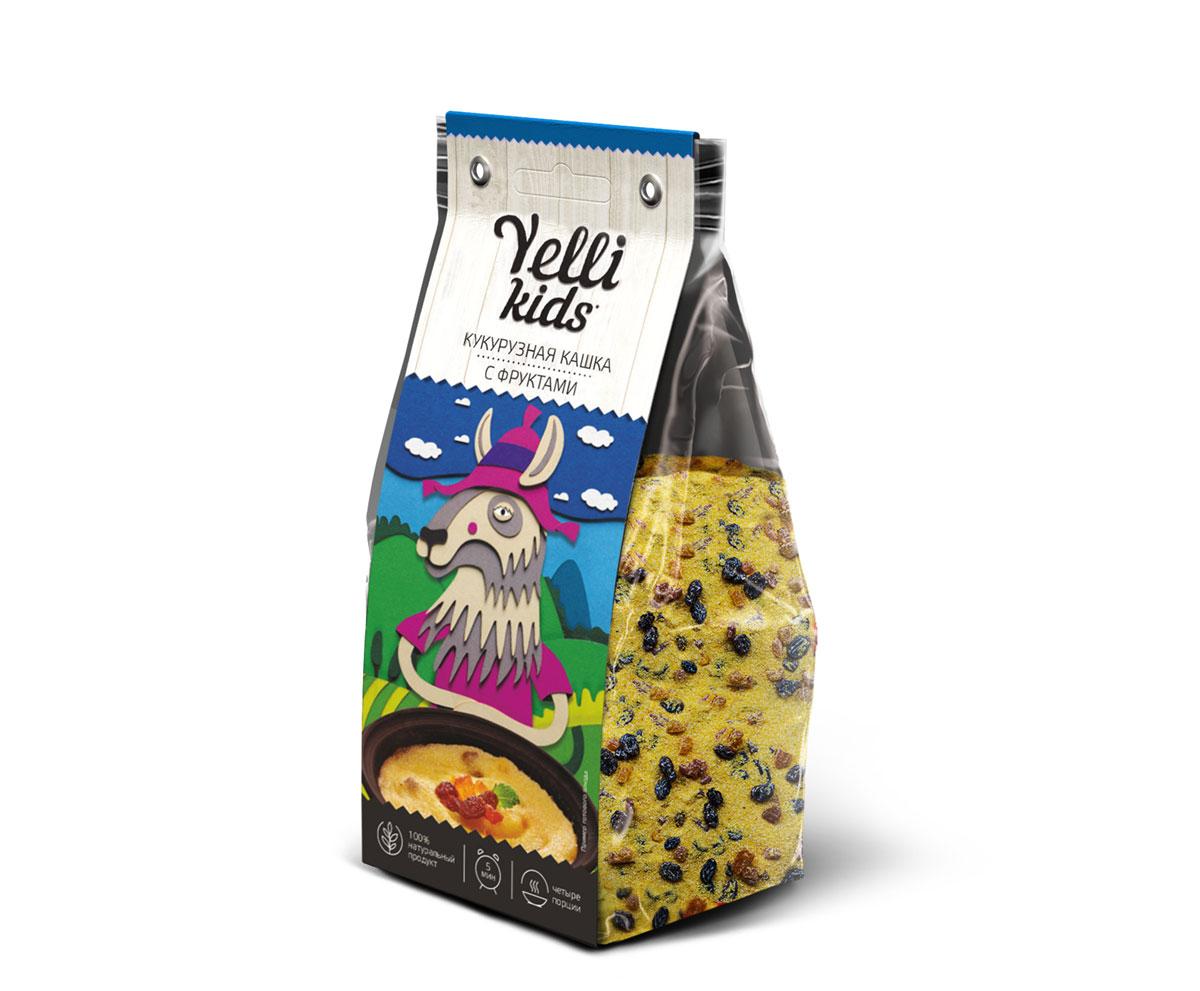 Yelli Kids кукурузная кашка с фруктами, 120 г0120710Наши дети - это маленькие исследователи. Yelli хочет, чтобы они были здоровы, радовались жизни, делали новые открытия! Yelli Kids помогает открывать новые вкусы, заботится о здоровье малышей и экономит время родителей.В основе кукурузной каши с фруктами - полента, мелкая кукурузная крупа ярко-желтого цвета. Каша быстро готовится, получается нежной, вкусной и сладкой, что так нравится детям!