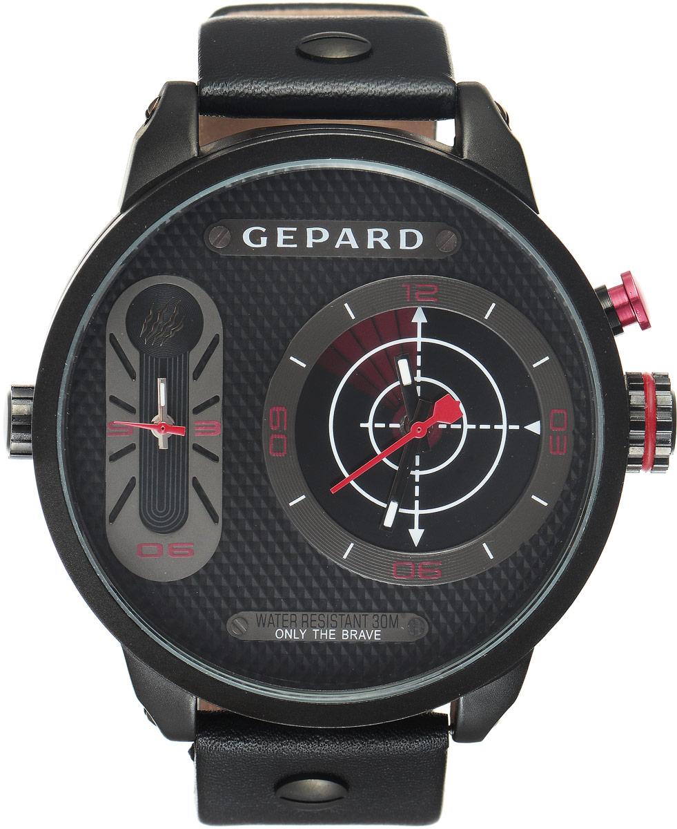 Zakazat.ru Наручные часы мужские Gepard, цвет: черный, красный. 1224A11L3