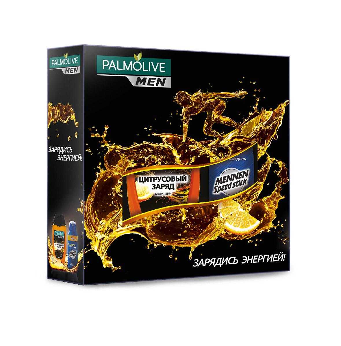 Подарочный набор Palmolive Men Заряд Энергии2218Гель для душа Цитрусовый заряд 250мл - 1шт, спрей Меннен Активный день 150мл - 1шт в коробке