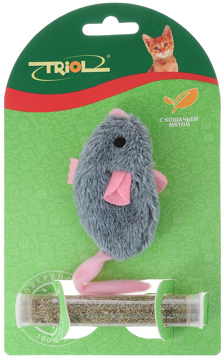 Игрушка для кошек Triol Плюшевая мышка, с кошачьей мятой, цвет: серый, розовый, длина 8 см27799306_голубойМягкая игрушка Triol Плюшевая мышка изготовлена из полиэстера. Играя с этой забавной игрушкой, маленькие котята развиваются физически, а взрослые кошки и коты поддерживают свой мышечный тонус. Изделие выполнено в виде мыши. В качестве наполнителя выступает кошачья мята. Кошачья мята - растение, запах которого делает кошку более игривой и любопытной. С помощью этого средства кошка легче перенесет путешествие на автомобиле, посещение ветеринарного врача, переезд на новую квартиру.Длина игрушки: 8 см.