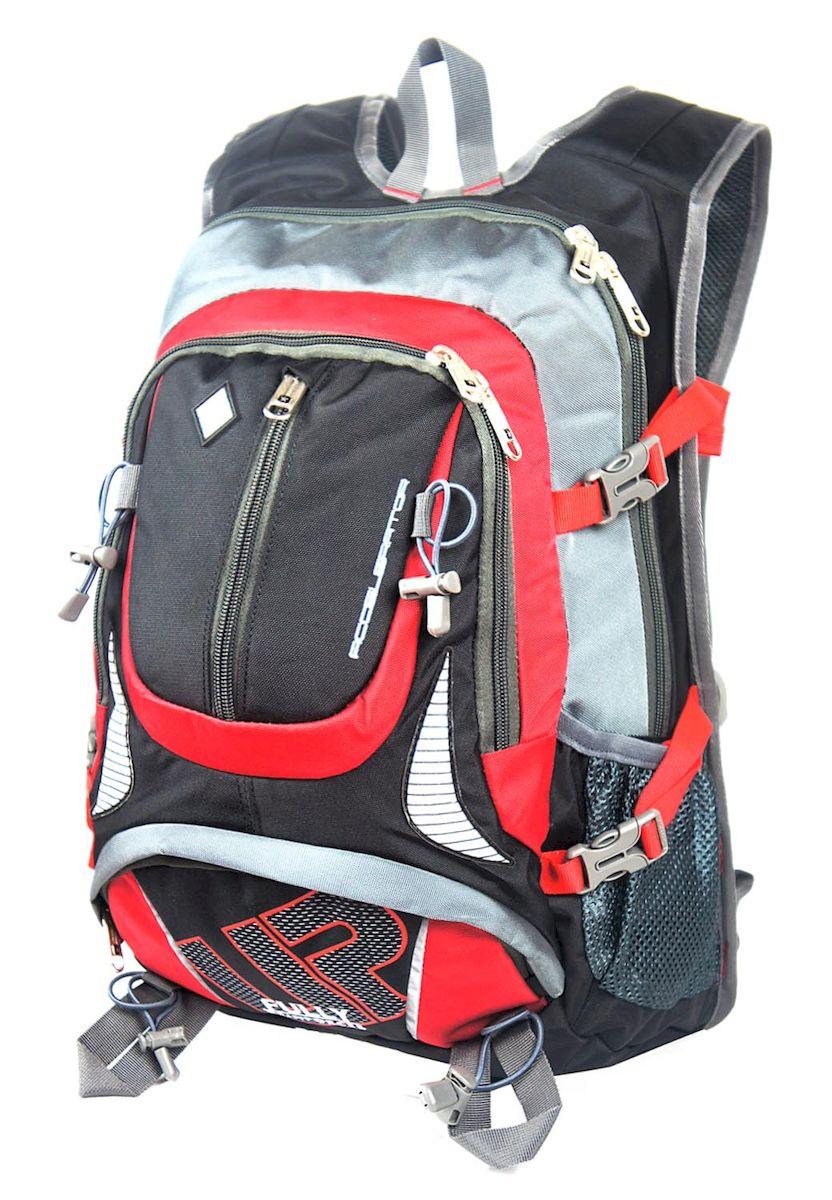 Рюкзак спортивный UFO people, цвет: серый с красным, 19 л. 5506RivaCase 8460 blackРюкзак городской UFO people выполнен из высококачественного нейлона и оформлен фирменной надписью.Изделиеимеет мягкие вставки на спинке, нагрудный фиксатор лямок, уплотненное дно и ремешки для крепления длинномерных предметов. Рюкзак оснащен ручкой для подвешивания и удобными лямками, длина которых регулируется с помощью пряжек. Изделие оснащено 6 наружными карманами на молниях. Внутри расположено два вместительных отделения на молнии.