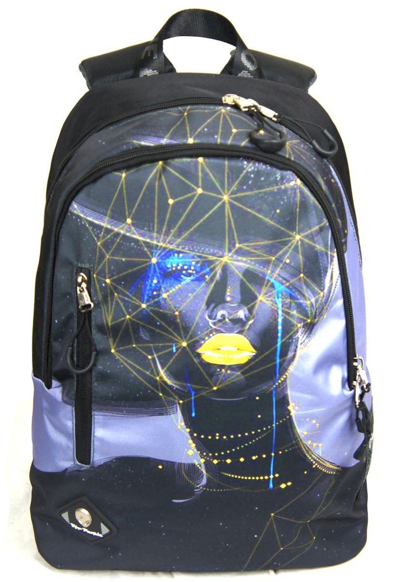 Рюкзак городской UFO people, цвет: черно-серый, 14 л. 6920БBP-001 BKРюкзак городской UFO people выполнен из высококачественного нейлона и оформлен оригинальным принтом. Изделиеимеет плотную стеганую спинку, эргономичные пуллеры и плотное усиленное дно. Рюкзак оснащен ручкой для подвешивания и удобными лямками, длина которых регулируется с помощью пряжек. На лицевой стороне расположен вертикальный вшитый карман на молнии. Внутри расположено два вместительных отделения на молнии.