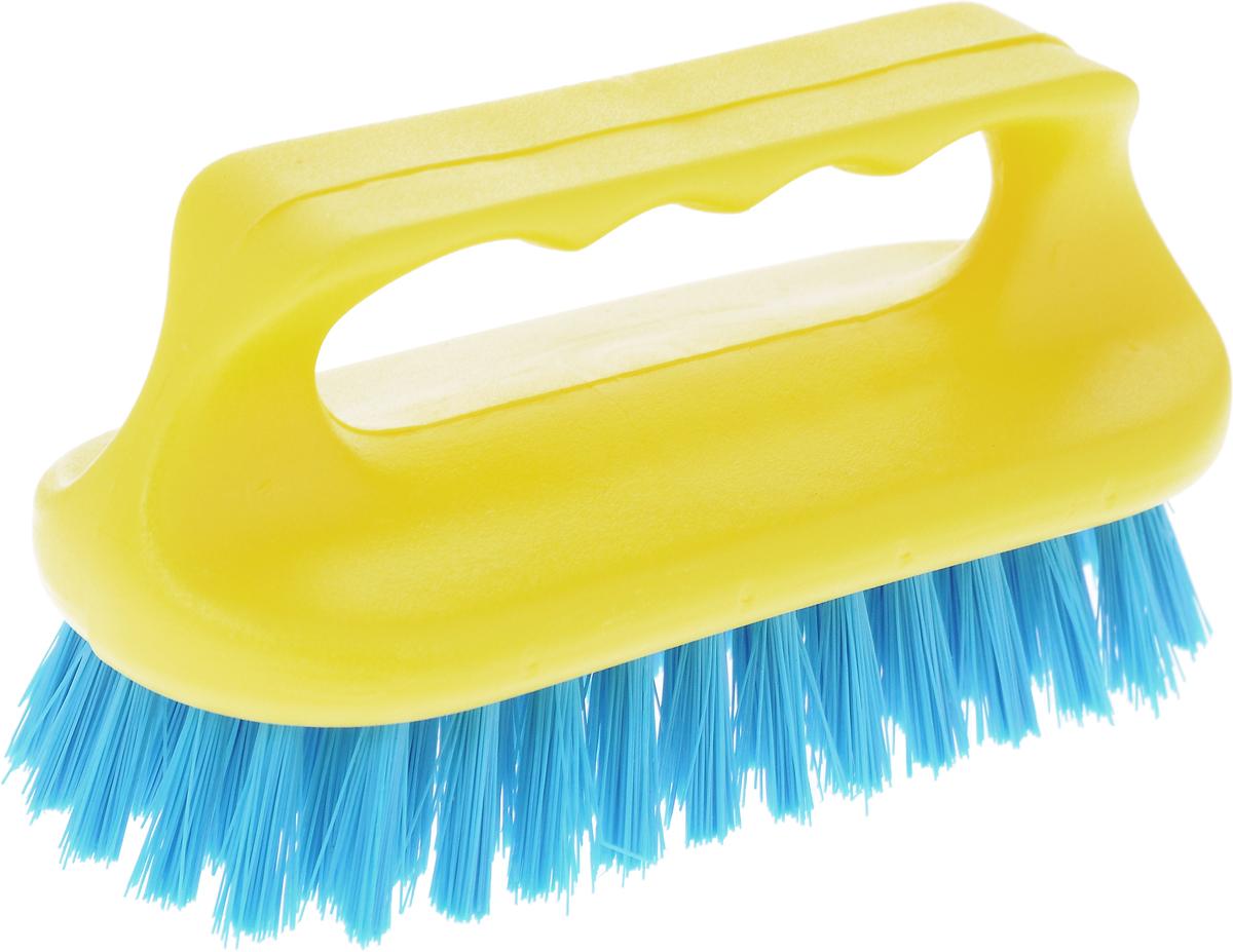 Щетка для ванны Хозяюшка Мила Сальвия, цвет: желтый, синийNN-604-LS-BUЩетка для ванны Хозяюшка Мила Сальвия, изготовленная из высокопрочного пластика, идеально подходит для снятия сильных загрязнений. Удобная ручка делает процесс чистки комфортным, а форма щетки позволяет хорошо чистить даже труднодоступные места. Щетина средней жесткости не повреждает поверхность. Длина щетины: 2,5 см.