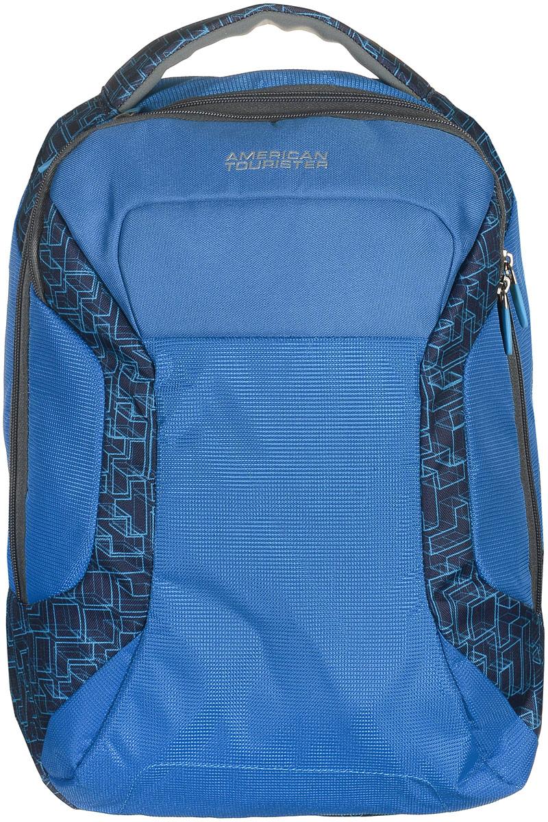 Рюкзак для ноутбука American Tourister, цвет: синий, 18,5 л10005-01159-OSИзящный и легкий рюкзак American Tourister для ноутбука до 15.6 и планшета 10.1. Изготовлен из полиэстера.Особенности: - вшитый карман для ноутбука 15,6 и для планшета 10.1;- во втором отделении три держателя для ручек и два кармашка для мелочей;- широкие лямки анатомической формы.Благодаря высокому качеству, прочным материалам и четко продуманной функциональности – рюкзаки American Tourister пользуются огромной популярностью среди туристов и тех, кто часто ездит в командировки.
