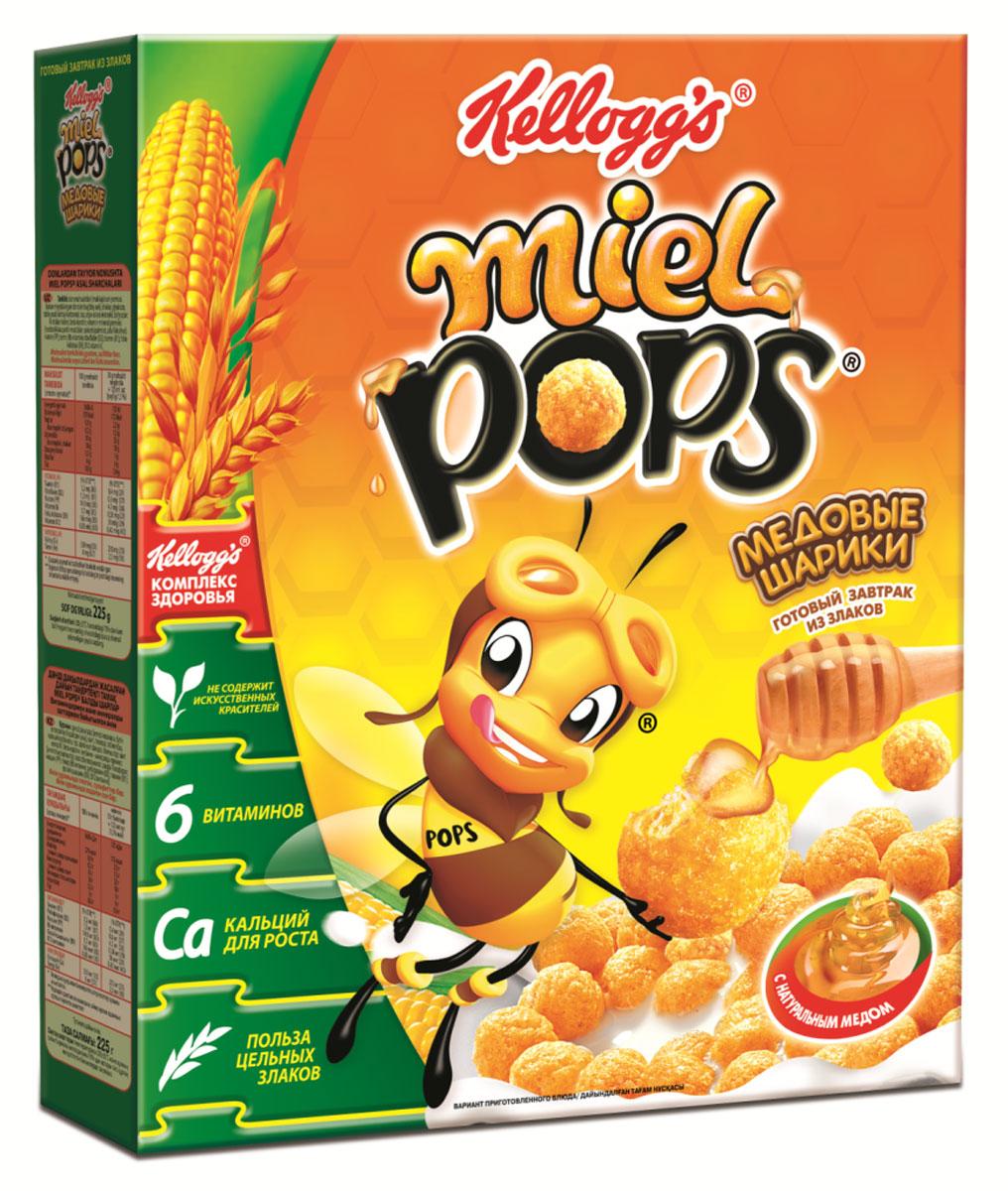 Miel Pops Готовый завтрак Медовые шарики, 225 г0120710Полезный завтрак из цельных злаков с натуральным медом, вкусное начало дня.