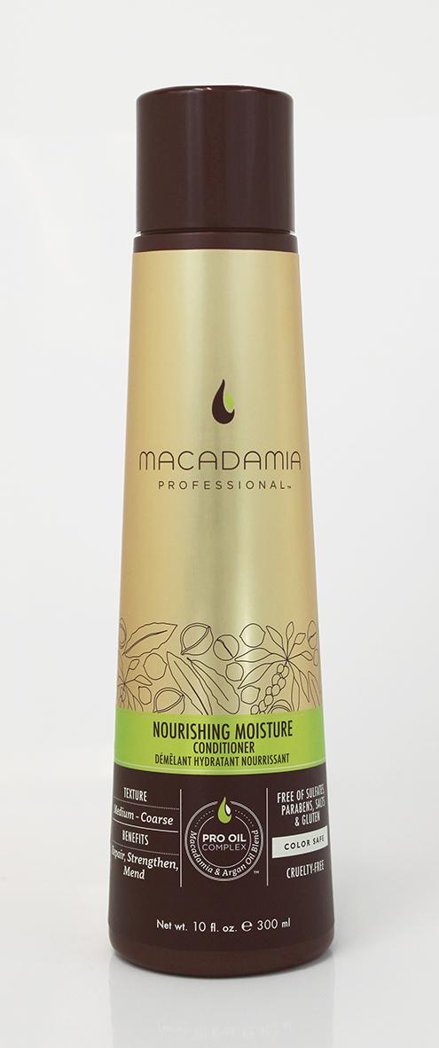 Macadamia Professional Кондиционер питательный для всех типов волос, 300 млA9028528Роскошная формула кондиционера Macadamia Professional с эксклюзивным комплексом Pro Oil Complex с маслами макадамии и арганы, масла авокадо, лесного ореха способствуют глубокому восстановлению и увлажнению волос и кожи головы. Сочетание коллагена и аминокислот шелка укрепляют полотно волоса. Обеспечивает мягкость, блеск и защиту от негативного действия УФ-лучей.