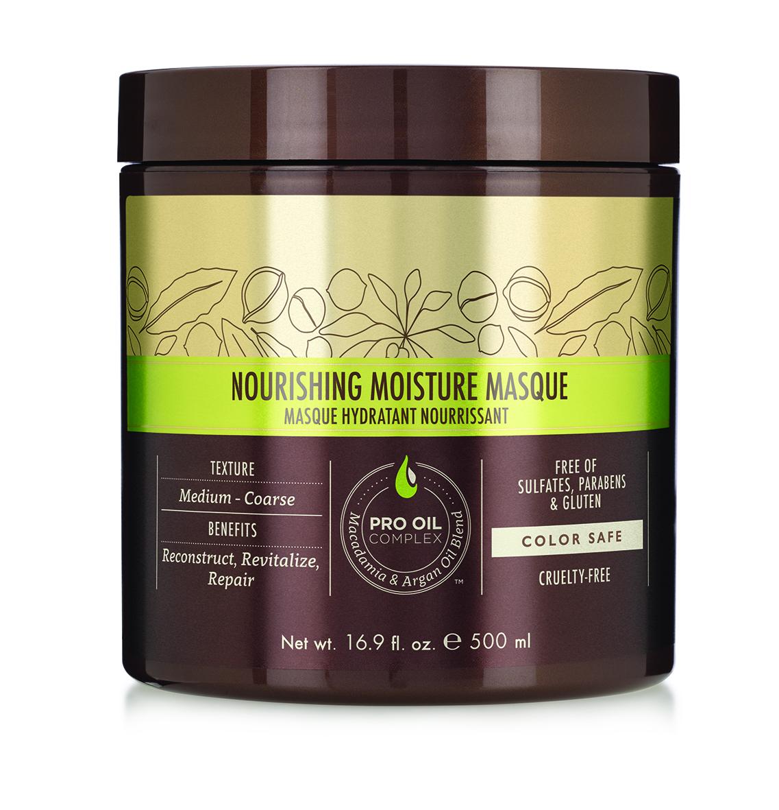 Macadamia Professional Маска питательная для всех типов волос, 500 мл086-13-16408Глубокий увлажняющий, восстанавливающий и реконструирующий уход Macadamia Professional для нормальных и сухих волос, c эксклюзивным комплексом Pro Oil Complex. Применение маски делает волосы шелковистыми, облегчает расчесывание, убирает излишнюю пушистость. Добавляет блеск и эластичность. Идеально для сухих, поврежденных, окрашенных волос. С длительным кондиционирующим эффектом.