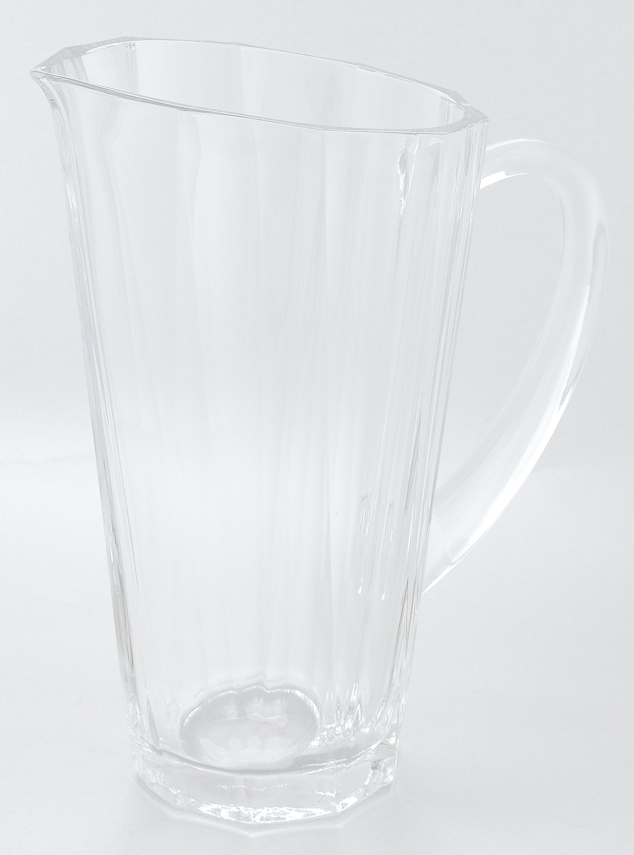 Кувшин Pasabahce Hemingway, с ручкой, 1 л19705Кувшин Pasabahce Hemingway, выполненный из прочного натрий-кальций-силикатного стекла, элегантно украсит ваш стол. Кувшин прекрасно подойдет для подачи воды, сока, компота и других напитков. Изделие оснащено ручкой и специальным носиком для удобного выливания жидкости. Совершенные формы и изящный дизайн, несомненно, придутся по душе любителям классического стиля. Кувшин Pasabahce Hemingway дополнит интерьер вашей кухни и станет замечательным подарком к любому празднику.Можно мыть в посудомоечной машине.Диаметр кувшина по верхнему краю (без учета носика): 11,5 см.Высота кувшина: 23 см.