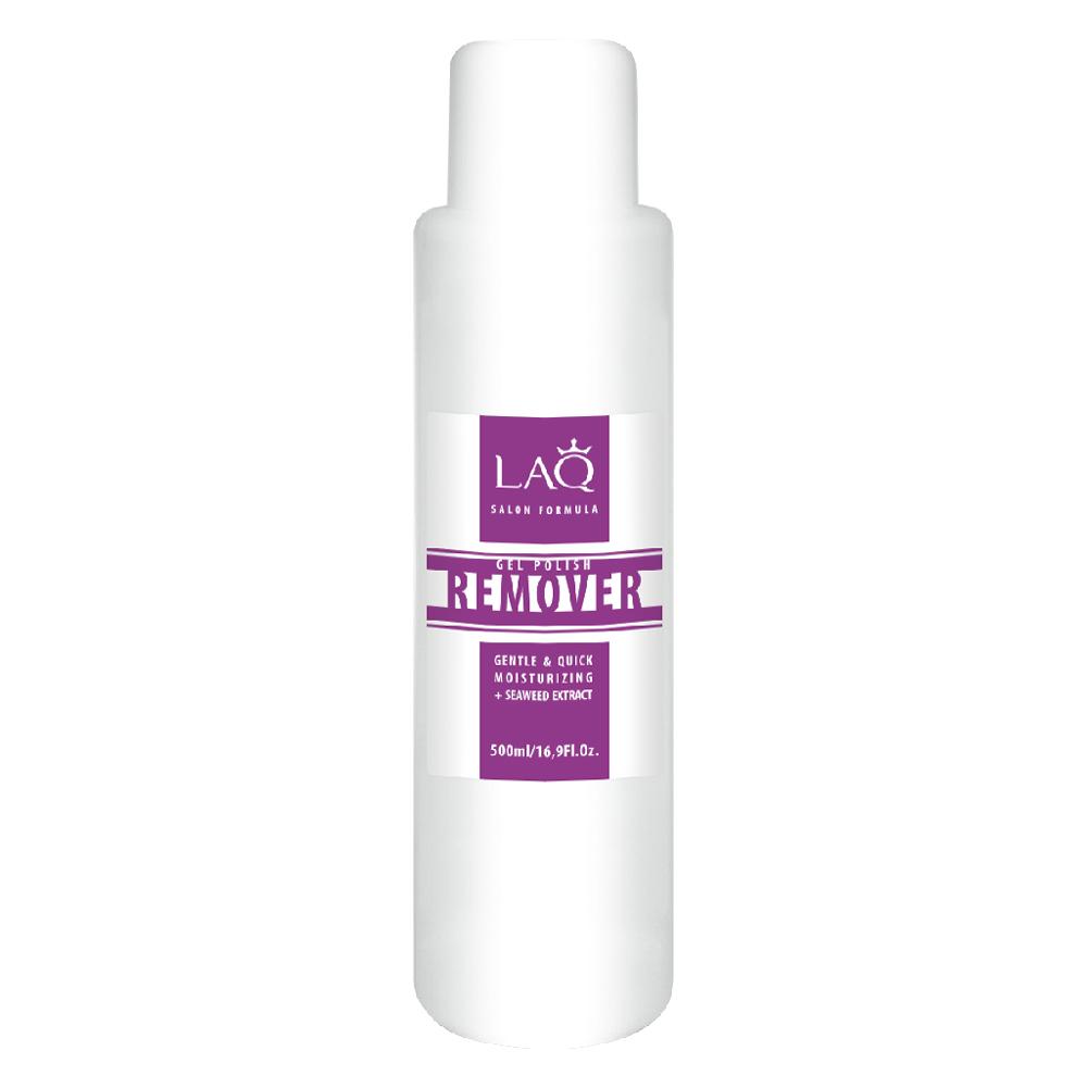 LAQ Средство для снятия гель-лака GEL POLISH REMOVER Salon Formula прозрачный , 500 мл009837Средство для снятия гель-лака. Обогащенная формула легко и мягко удаляет гель-лак. Содержит уникальный увлажняющий комплекс. Не пересушивает ногтевую пластину, придает мягкость кутикуле. Экстракт морских водорослей содержит антиоксиданты, витамины и минералы. Это настоящий увлажняющий и энергитический коктейль для ногтей и кутикулы.