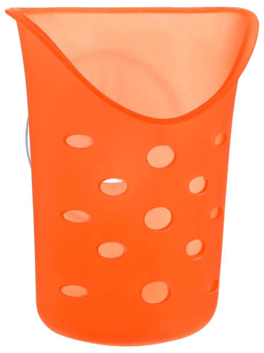 Подставка для ванных принадлежностей Gotoff, на присоске, цвет: оранжевый, 9 х 11,5 х 4 см25051 7_зеленыйПодставка Gotoff, изготовленная из пластика, предназначена для хранения мелких вещей в ванной комнате. Она крепится к стене с помощью вакуумной присоски (входит в комплект), мгновенно одним нажатием. В случае необходимости изделие можно быстро перевесить. Никаких дырок и следов на поверхности не остается. Легко устанавливается на плитку, стекло, металл и прочие воздухонепроницаемые поверхности. Размер подставки: 9 х 11,5 х 4 см. Диаметр присоски: 6 см.