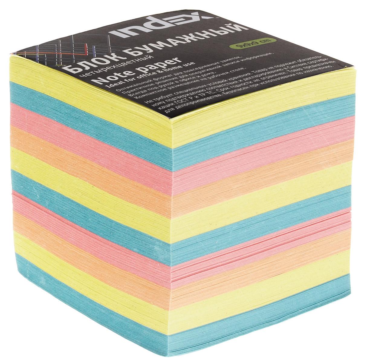 Index Блок для записей многоцветный цвет желтый бирюзовый розовый0703415Бумага для записей Index - практичное решение для оперативной записи информации в офисе или дома. Блок состоит из листов разноцветной бумаги, что помогает лучше ориентироваться во множестве повседневных заметок.Яркий блок-кубик на вашем рабочем столе поднимет настроение вам и вашим коллегам!