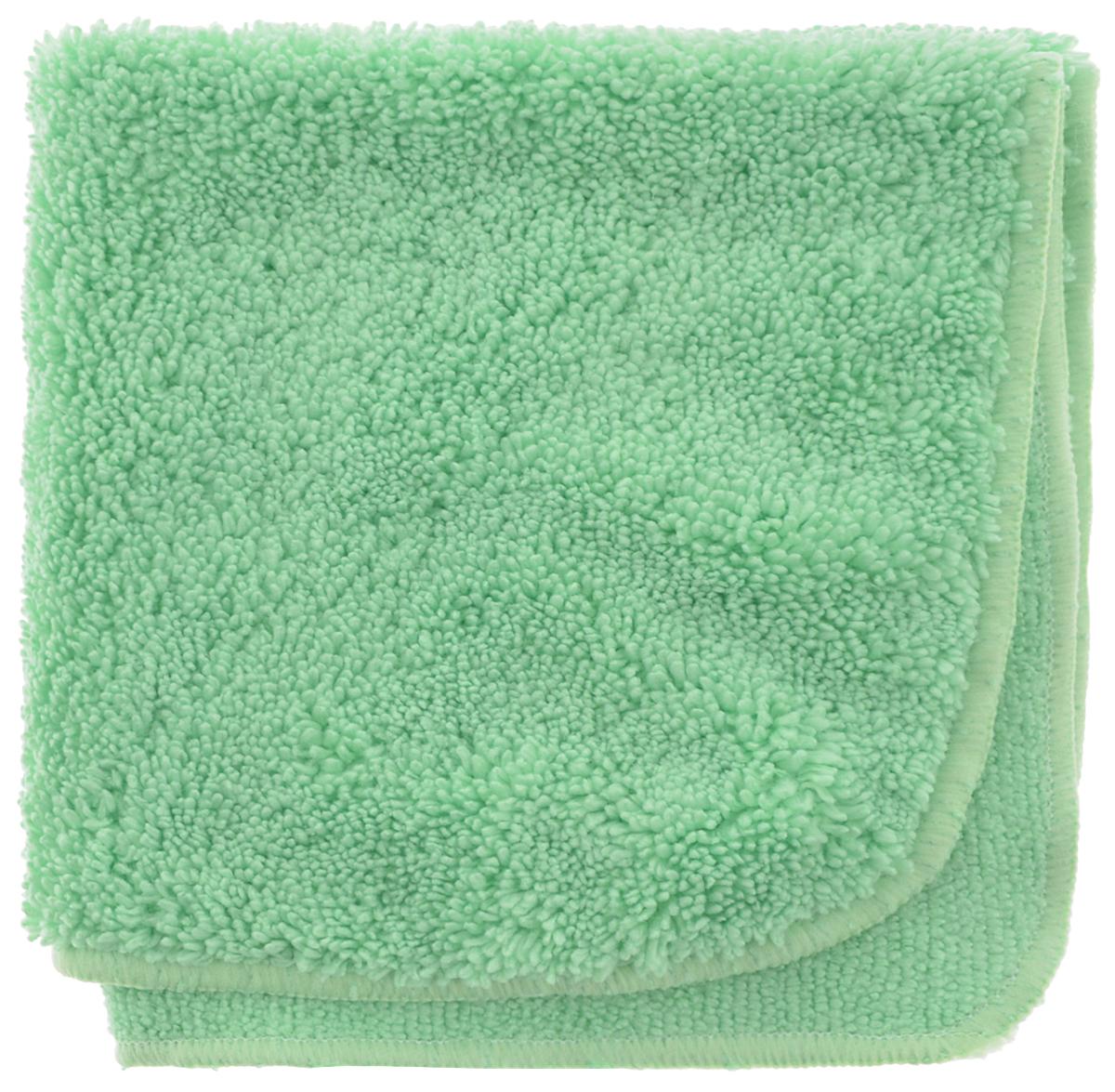 Салфетка для уборки Meule Premium, универсальная, цвет: салатовый, 30 х 30 см787502Салфетка Meule Premium выполнена из высококачественной микрофибры (80% полиэстер, 20% полиамид). У салфетки двусторонняя структура с хорошо выраженными ворсинками с одной стороны и удлиненным ворсом. Изделие может использоваться как для сухой, так и для влажной уборки. Деликатно очищает любые виды поверхности, не оставляет следов и разводов. Идеально впитывает влагу, удаляет загрязнения и пыль, а также подходит для протирки полированной мебели. Сохраняет свои свойства после стирки.