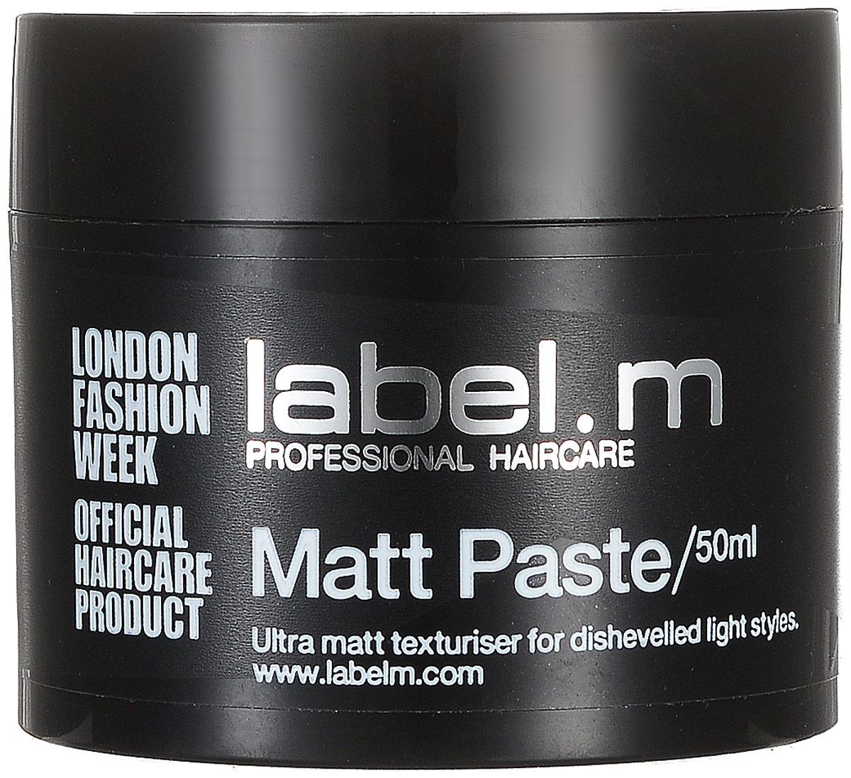 Label.m Паста матовая, 50 млMP59.4DОбеспечивает великолепную матовую текстуру и четкость формы. Подходит для коротких волос и волос средней длины. Подходит для коротких волос и волос средней длины. Содержит инновационный комплекс Enviroshield, который защищает волосы от термического воздействия во время укладки, от УФ лучей и воздействия окружающей среды, позволяет экспериментировать без вреда для волос.