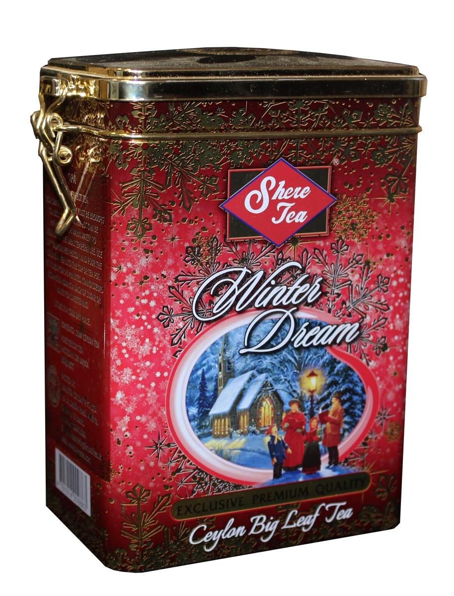 Shere Tea Зимняя мечта чай черный листовой, 250 г4792156001685Черный листовой чай Shere Tea Зимняя мечта стандарта OPА - крупный лист.Листья для этого чая собирают с кустов после того, как почки полностью раскрываются. Для этого сорта собирают первый и второй лист с ветки. ОРА - особый крупнолистовой чай неплотной скрутки, оптимально сочетающий крепость, терпкость, аромат и мягкость вкуса. Чай характерен вкусом с горчинкой, а кофеина во взрослых листьях меньше, чем в молодых.Знак в виде Льва с 17 пятнышками на шкуре - это гарантия Цейлонского Чайного Бюро на соответствие чая высокому стандарту качества, установленному Правительством и упакованному только в пределах Шри-Ланки.