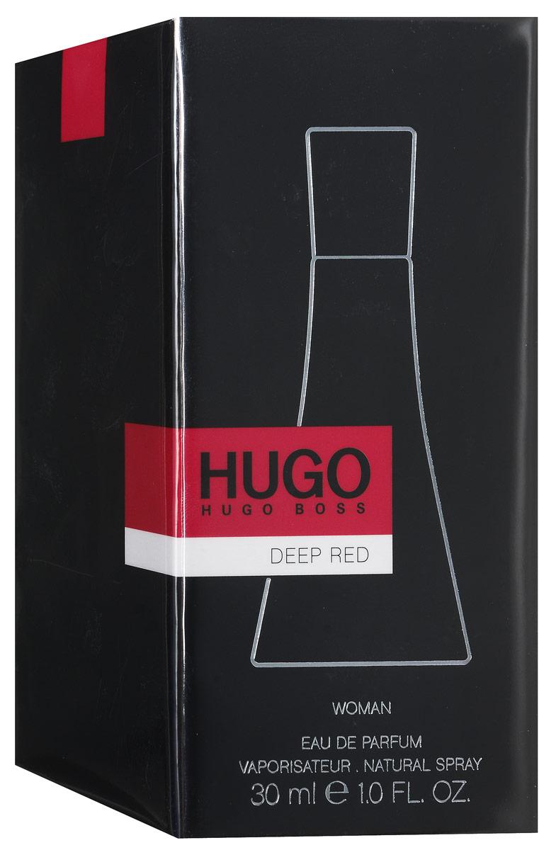 Hugo Boss Парфюмированная вода Deep Red, 30 мл1301210Аппетитный фруктовый аромат парфюмерной воды Hugo Boss Deep Red не оставит равнодушными любителей вкусненького. В меню свежие фруктовые ноты с легким акцентом пряностей - груша, черная смородина, мандарин, апельсин, шиповник, имбирь, ваниль, кедр и мускус. Изысканный аромат контрастов, в котором слились энергия и чувственность, сила и женственность.Осязаемая, чувственная фактура стекла флакона, его форма, напоминающая силуэт девушки в элегантном, красном платье. Оригинально и впечатляюще!Классификация аромата: фруктовый, цветочный.Пирамида аромата: верхние ноты - черная смородина, апельсин, клементин; ноты сердца - цветок джинджер-лили, имбирь, фрезия; ноты шлейфа - ваниль, мускус, сандал.Товар сертифицирован.