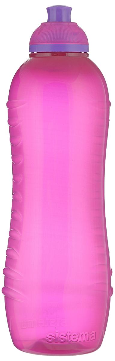 Бутылка для воды Sistema Twist n Sip, цвет: малиновый, 620 млN.OB.17.934.22Бутылка для воды Sistema Twist n Sip изготовлена из прочного пищевого пластика без содержания фенола и других вредных примесей. Рельефная поверхность бутылки со специальными выемками для удобного хвата. Бутылка имеет удобную запатентованную систему крышки Twist n Sip, которая предотвращает выливание жидкости и в то же время позволяет удобно пить напитки. С такой бутылкой Вы сможете где угодно насладиться Вашими любимыми напитками. Высота бутылки: 16 см.