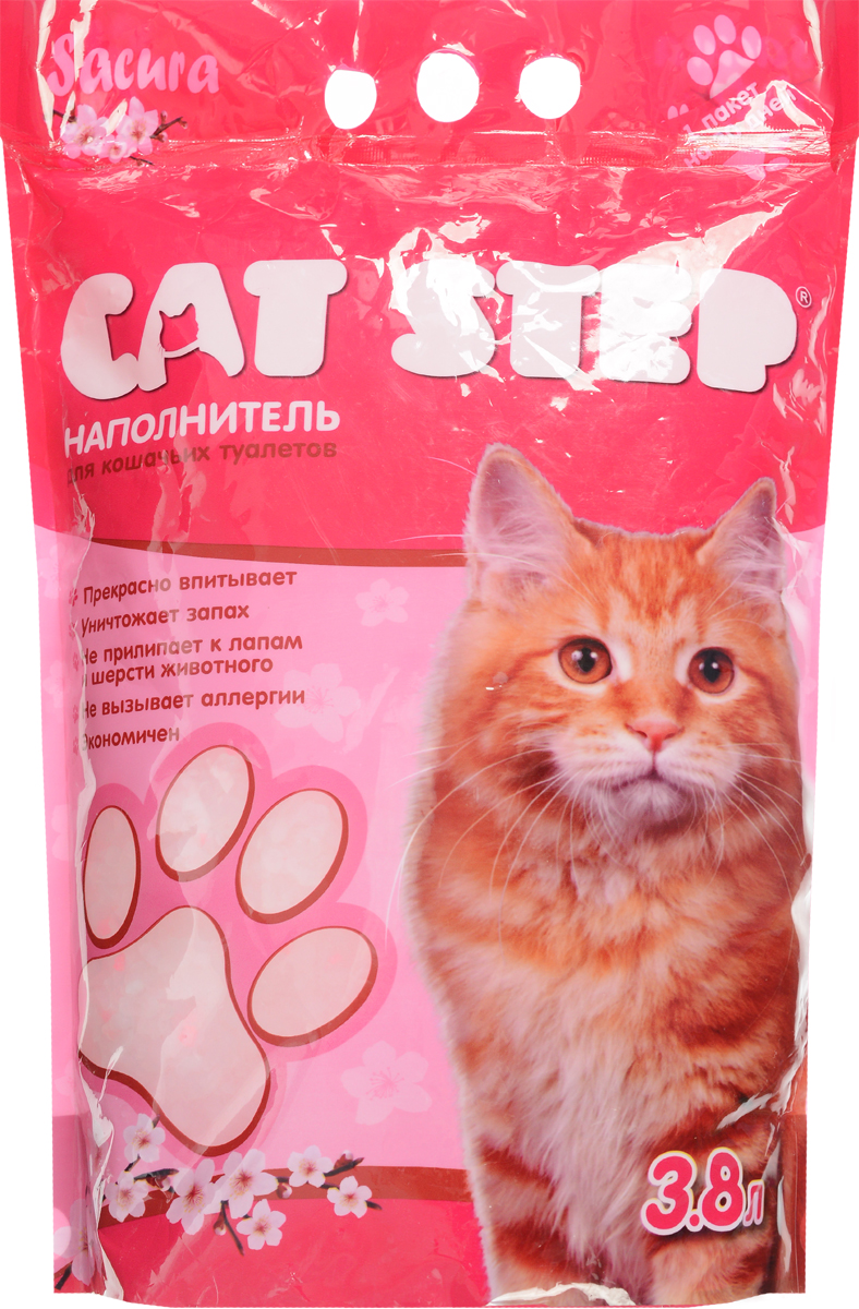 Наполнитель для кошачьих туалетов Cat Step, силикагель, сакура, 3,8 л14C245181Впитывающий наполнитель Cat Step изготовлениз силикагеля, который мгновенно впитываетжидкость и способствует уничтожению запахов.Как только влага коснется поверхности гранулсиликагеля, множество микроскопических порбуквально поглощают ее. А сами гранулысиликагеля остаются при этом сухими наповерхности и не прилипают к шерсти и лапкамкошки.Впитывающая способность наполнителя Cat Step настолько высока, что одного пакета хватает нацелый месяц!Объем: 3,8 л.