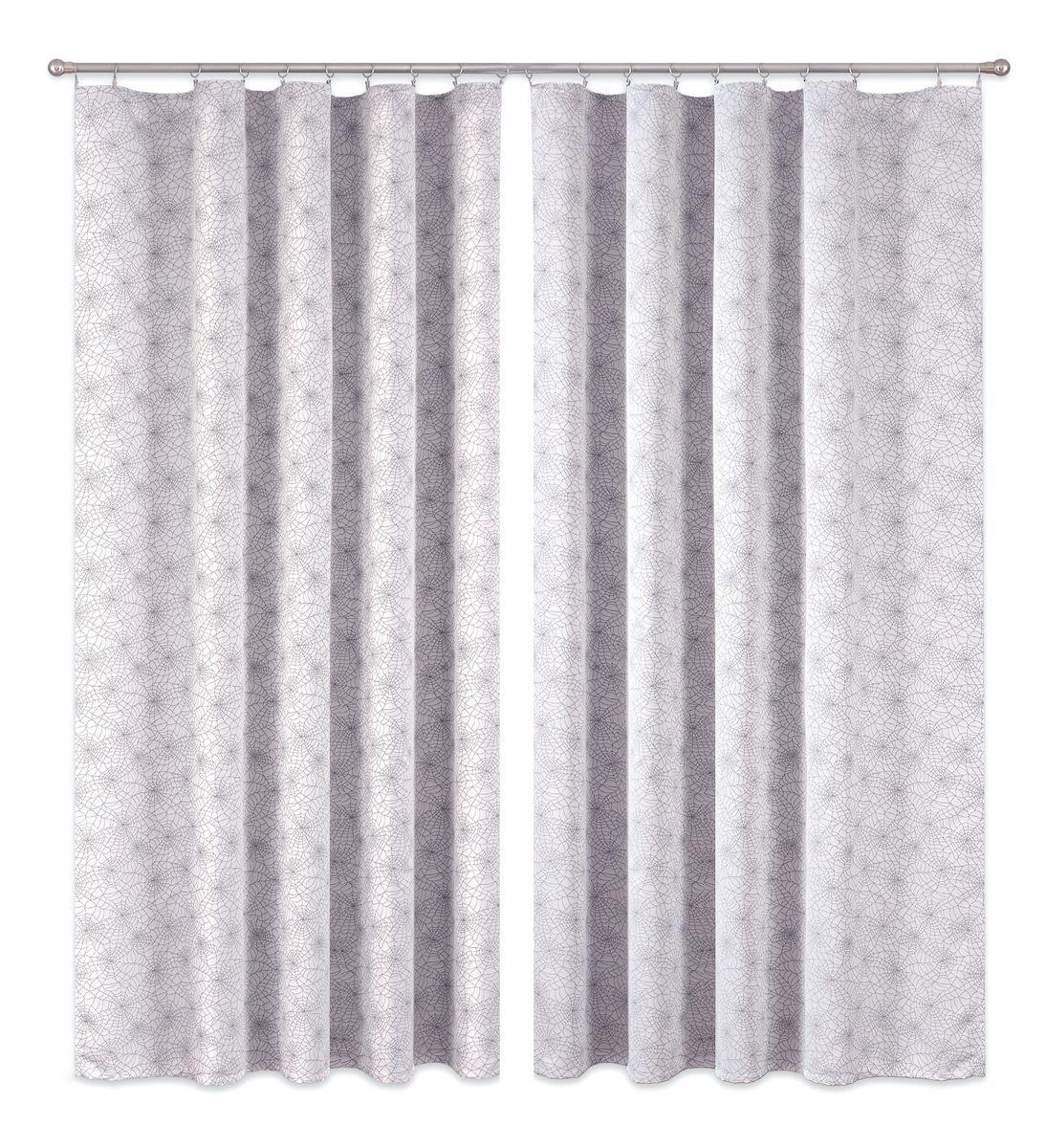 Комплект штор P Primavera Firany, цвет: серый, высота 270 см. 1110002S03301004Комплект шториз полиэстровой жаккардовой ткани с пришитой шторнойлентой. Размер - ширина 180 см высота 270см. Набор 2 штуки. Цвет серый.Размер: ширина 180 х высота 270