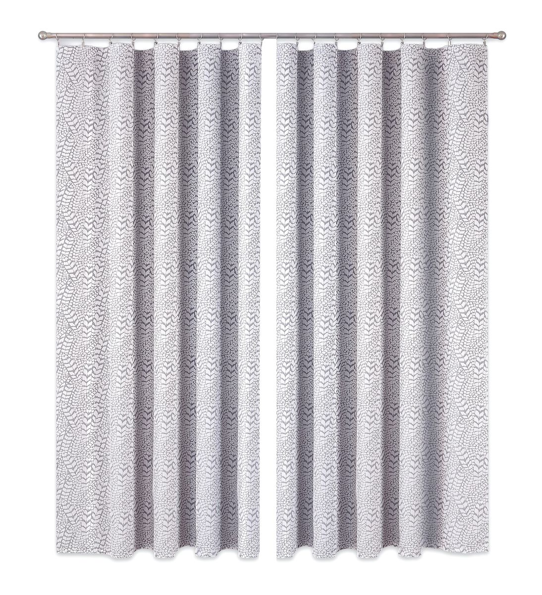 Комплект штор P Primavera Firany, цвет: серый, высота 250 см. 1110008956251325Комплект шториз полиэстровой жаккардовой ткани с пришитой шторнойлентой. Размер - ширина 180 см высота 250см. Набор 2 штуки. Цвет серый.Размер: ширина 180 х высота 250