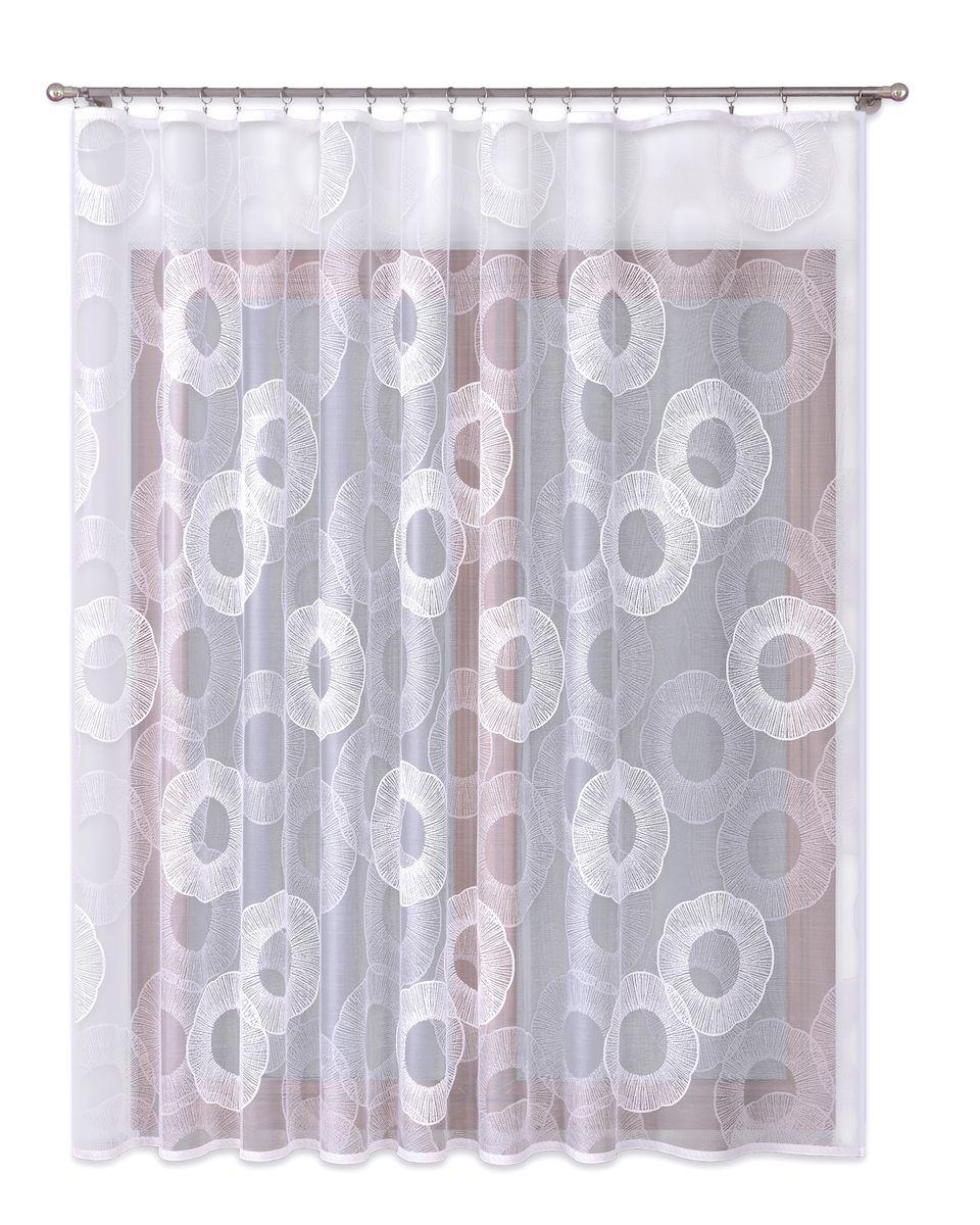 Тюль P Primavera Firany, цвет: белый, высота 250 см. 11101091004900000360Тюль жаккардовая с пришитойшторной лентой. Размер: ширина300см высота 250см. Цвет белый.Размер: ширина 300 х высота 250