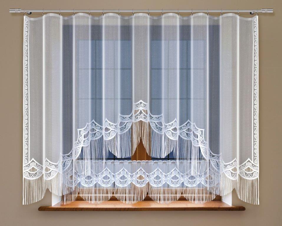 Комплект гардин Haft, на ленте, цвет: белый, 2 шт. 2132403111909678Комплект штор для кухни Haft великолепно украсит любое окно. Комплект состоит из двух гардин, выполненных из полиэстера.Изделие органично впишется в интерьер помещения.Комплект крепится на карниз при помощи ленты, которая поможет красиво иравномерно задрапировать верх.