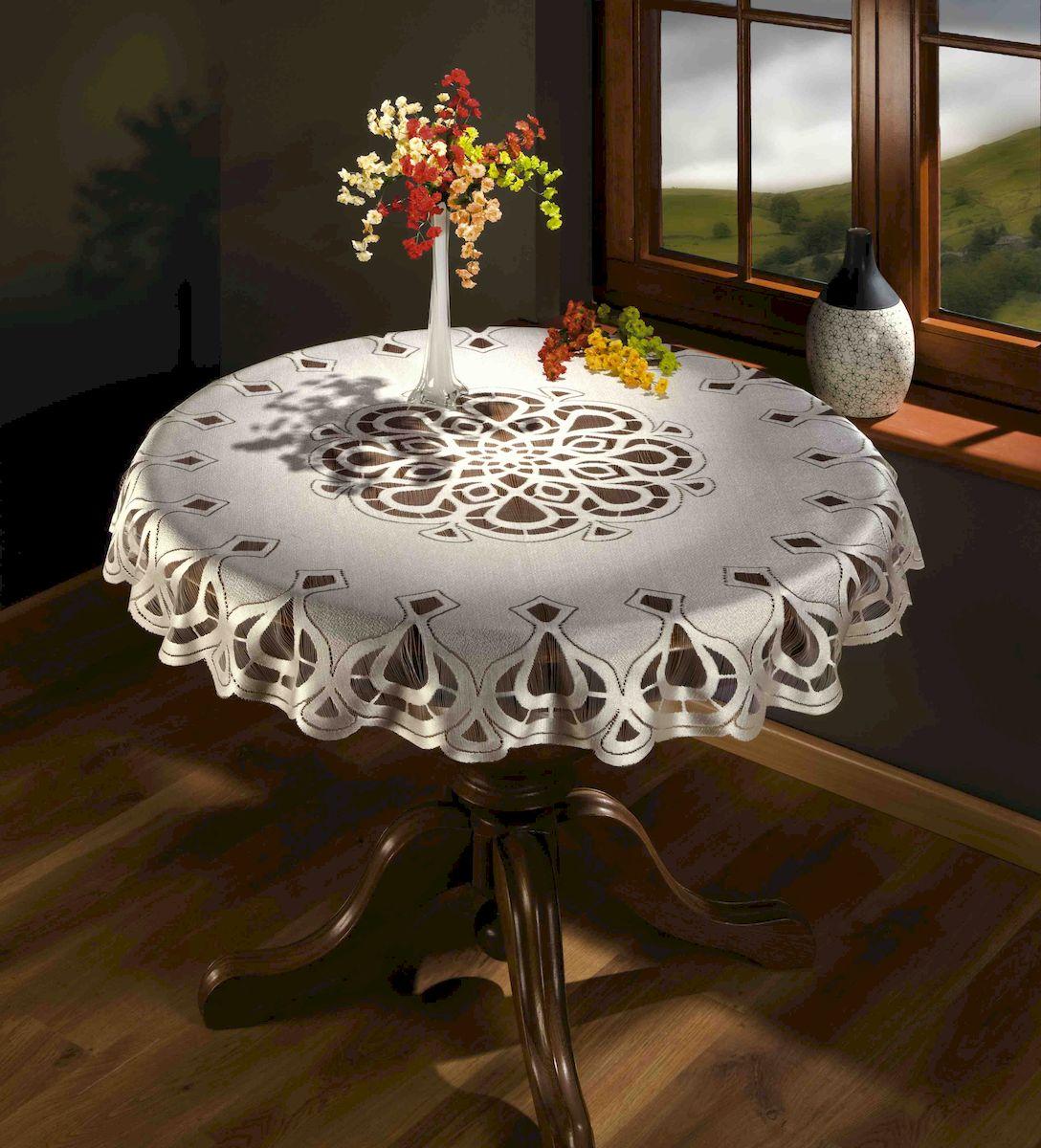 Скатерть Wisan, цвет: белый, 125x125 см. 8967VT-1520(SR)Скатерть жаккардовая, бережная стирка при t не более 40С, деликатный режим.