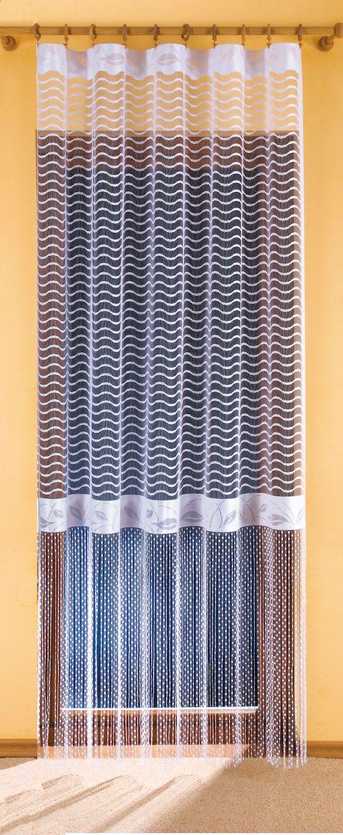 Гардина Wisan Gracjana, цвет: белый, высота 250 см. 99113111417276Жаккардовая гардина-арка с цветным рисунком. Крепится на зажимы для шторРазмер: ширина 155 x высота 250