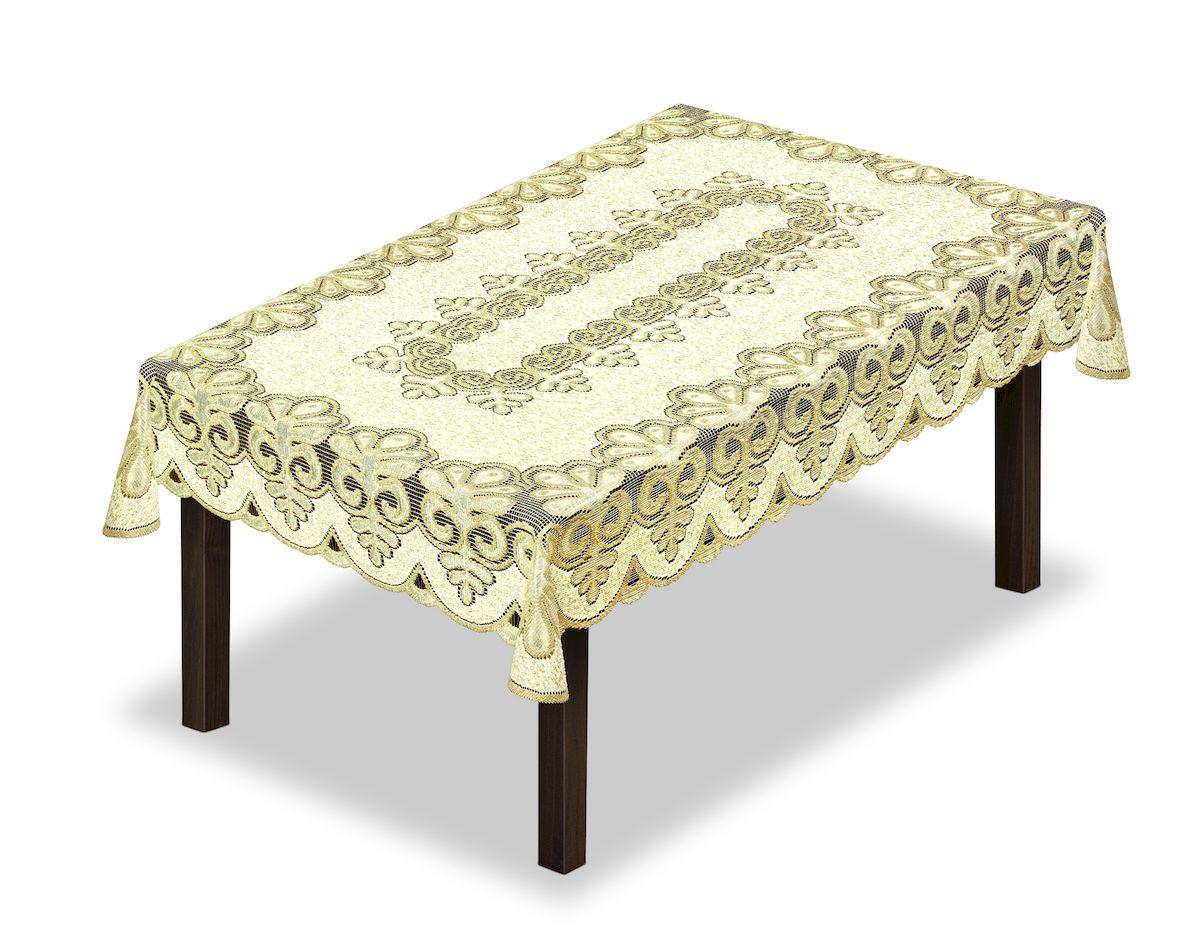 Скатерть Haft, прямоугольная, цвет: кремовый, золотистый, 150 x 100 см. 227900867/1/CHAR001Великолепная скатерть Haft, выполненная из полиэстера, органично впишется в интерьер любого помещения, а оригинальный дизайн удовлетворит даже самый изысканный вкус.Скатерть Haft создаст праздничное настроение и станет прекрасным дополнением интерьера гостиной, кухни или столовой.