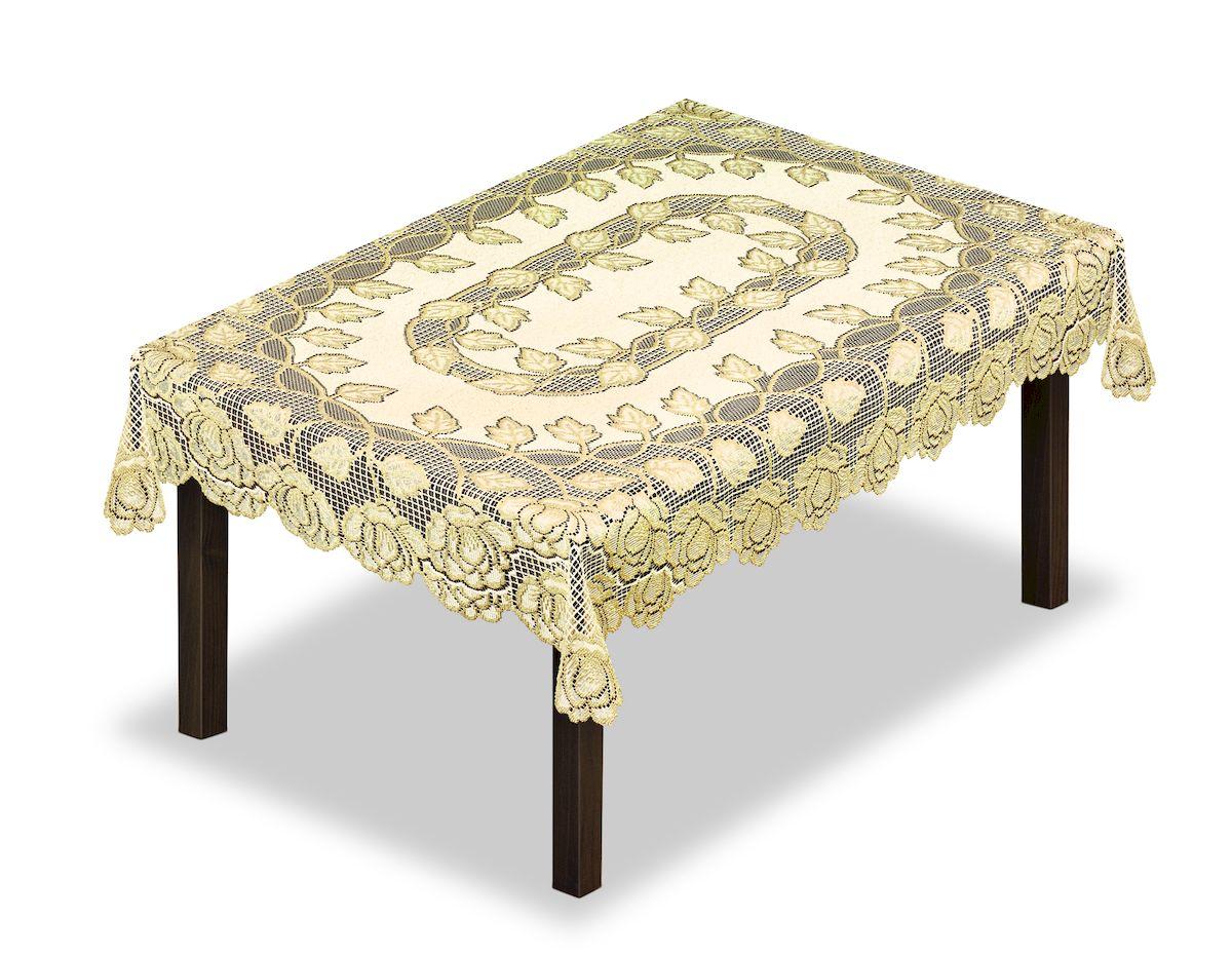 Скатерть Haft, прямоугольная, цвет: кремовый, золотистый, 130 x 180 см. 2286493162119180Великолепная скатерть Haft, выполненная из полиэстера, органично впишется в интерьер любого помещения, а оригинальный дизайн удовлетворит даже самый изысканный вкус.Скатерть Haft создаст праздничное настроение и станет прекрасным дополнением интерьера гостиной, кухни или столовой.