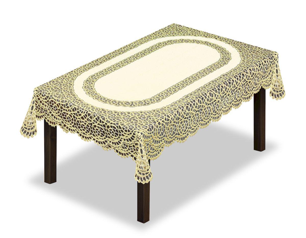Скатерть Haft, прямоугольная, цвет: кремовый, золотистый, 120 x 160 см. 22869986247Великолепная скатерть Haft, выполненная из полиэстера, органично впишется в интерьер любого помещения, а оригинальный дизайн удовлетворит даже самый изысканный вкус.Скатерть Haft создаст праздничное настроение и станет прекрасным дополнением интерьера гостиной, кухни или столовой.
