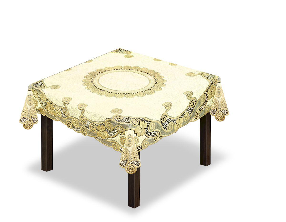 Скатерть Haft, квадратная, цвет: кремовый, золотистый, 150 x 150 см. 2303383121751140Великолепная скатерть Haft, выполненная из полиэстера, органично впишется в интерьер любого помещения, а оригинальный дизайн удовлетворит даже самый изысканный вкус.Скатерть Haft создаст праздничное настроение и станет прекрасным дополнением интерьера гостиной, кухни или столовой.