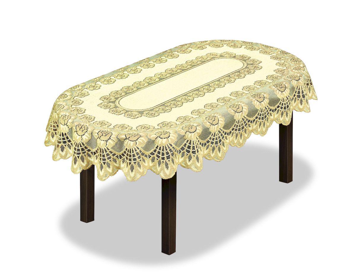Скатерть Haft, овальная, цвет: кремовый, золотистый, 150 x 100 см. 23067178931Великолепная скатерть Haft, выполненная из полиэстера, органично впишется в интерьер любого помещения, а оригинальный дизайн удовлетворит даже самый изысканный вкус.Скатерть Haft создаст праздничное настроение и станет прекрасным дополнением интерьера гостиной, кухни или столовой.