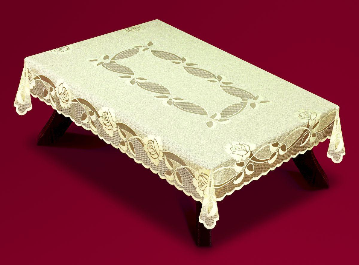 Скатерть Haft, прямоугольная, цвет: ванильный, 120 x 160 см. 54420VT-1520(SR)Великолепная скатерть Haft, выполненная из полиэстера, органично впишется в интерьер любого помещения, а оригинальный дизайн удовлетворит даже самый изысканный вкус.Скатерть Haft создаст праздничное настроение и станет прекрасным дополнением интерьера гостиной, кухни или столовой.
