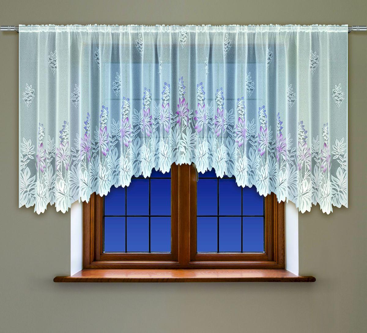 Гардина Haft, на кулиске, цвет: белый, высота 160 см. 20053060276Воздушная гардина Haft, выполненная из полиэстера, великолепно украсит любое окно.Изделие имеет оригинальный дизайн и органично впишется в интерьер помещения.Гардина крепится на карниз при помощи кулиски.