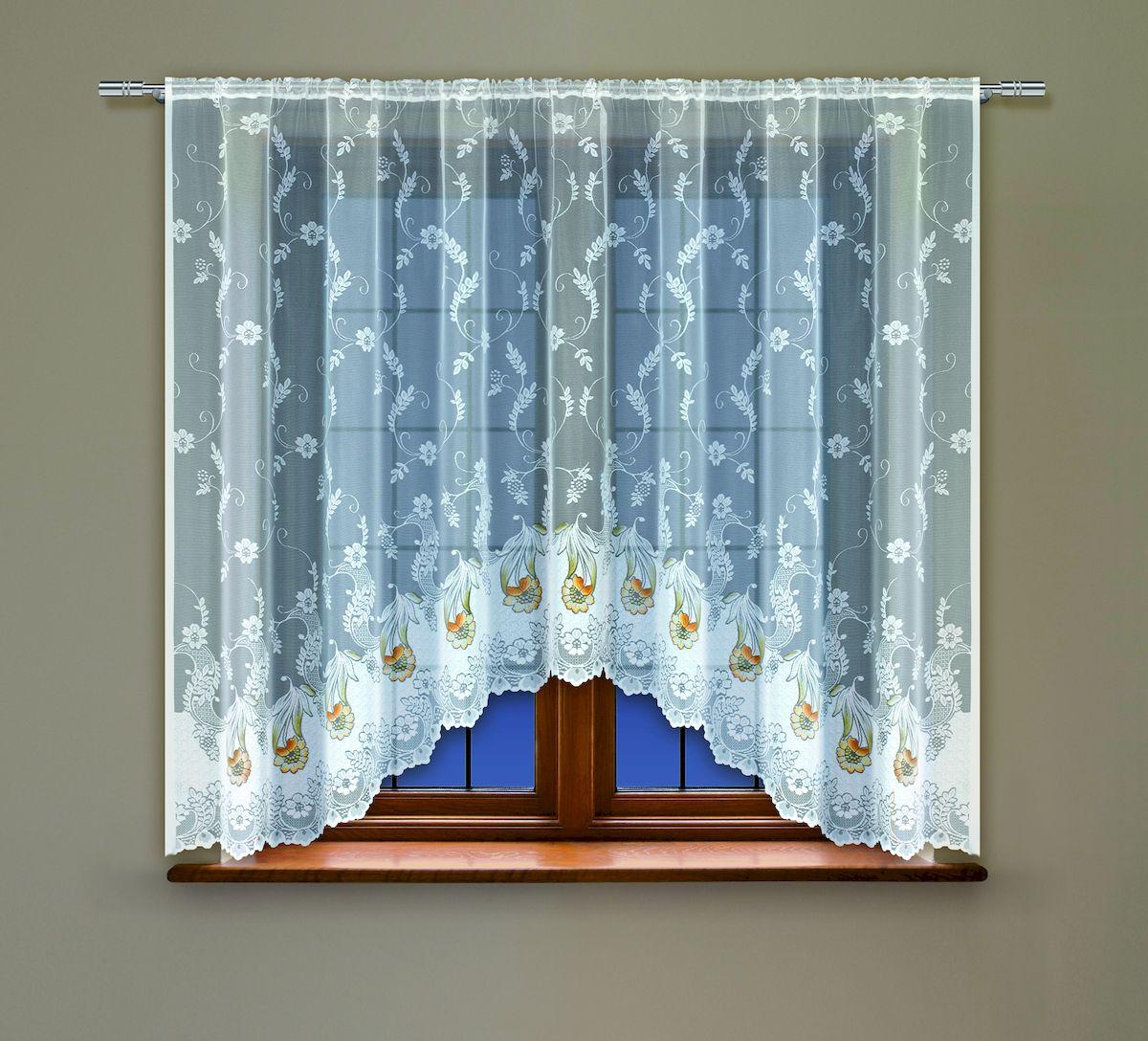 Гардина Haft, на кулиске, цвет: белый, высота 137 см. 20850140.13.64.0243Воздушная гардина Haft, выполненная из полиэстера, великолепно украсит любое окно.Изделие имеет оригинальный дизайн и органично впишется в интерьер помещения.Гардина крепится на карниз при помощи кулиски.