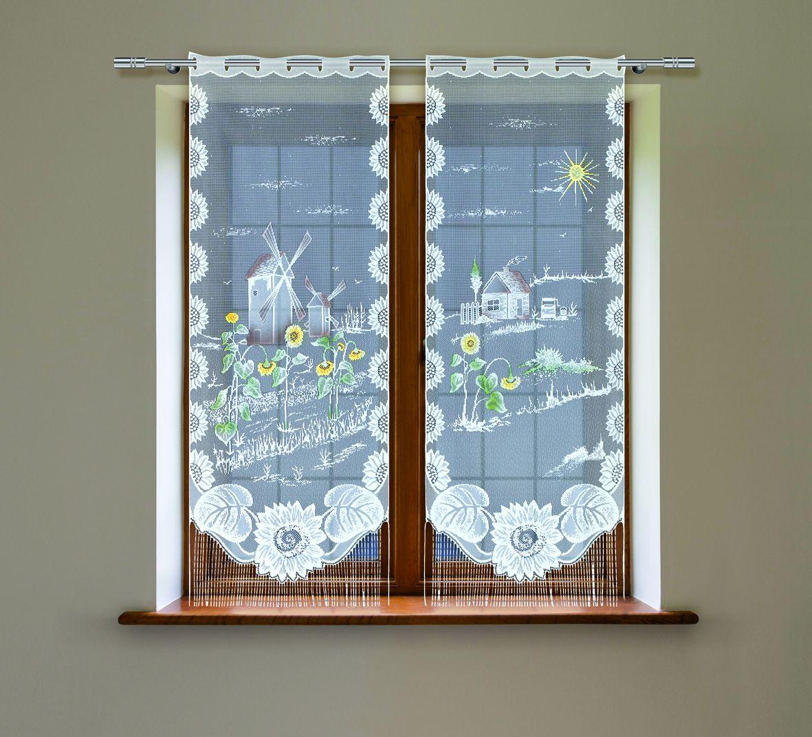 Комплект гардин Haft, на петлях, цвет: белый, высота 160 см, 2 шт. 21520С1004900000360Воздушные гардины Haft великолепно украсят любое окно. Комплект состоит из двух гардин, выполненных из полиэстера.Изделие имеет оригинальный дизайн и органично впишется в интерьер помещения.Комплект крепится на карниз при помощи петель.
