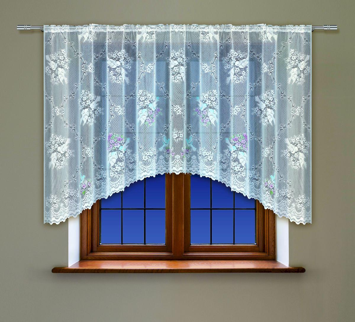Гардина Haft, на кулиске, цвет: белый, высота 137 см. 2221613111815376Воздушная гардина Haft, выполненная из полиэстера, великолепно украсит любое окно.Изделие имеет оригинальный дизайн и органично впишется в интерьер помещения.Гардина крепится на карниз при помощи кулиски.