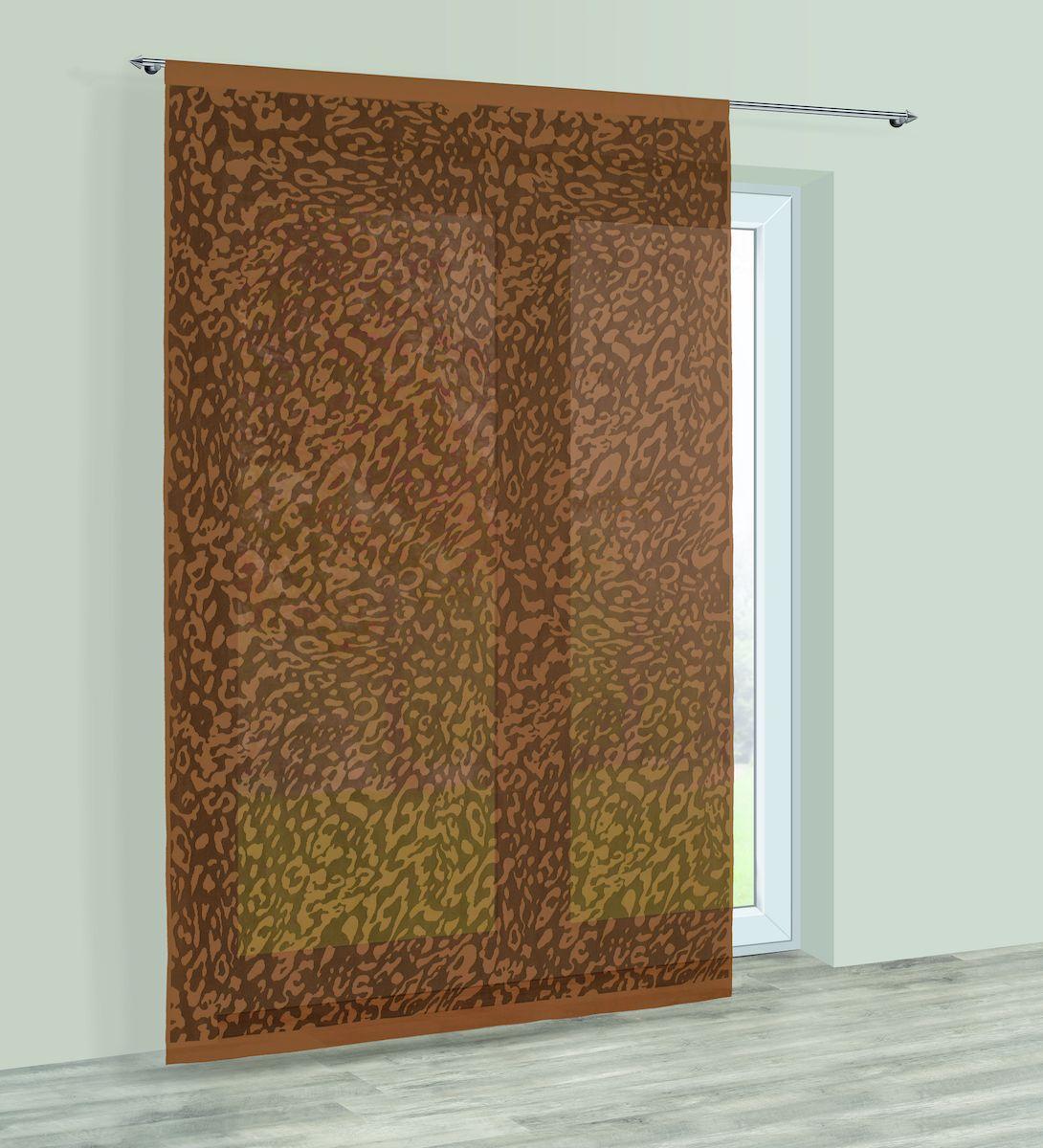 Гардина Haft, на кулиске, цвет: шоколадный, высота 250 см. 22854021520С/60Гардина Haft великолепно украсит любое окно. Изделие выполнено из полиэстера и декорировано под окрас животного.Изделие имеет оригинальный дизайн и органично впишется в интерьер помещения.Гардина крепится на карниз при помощи кулиски.