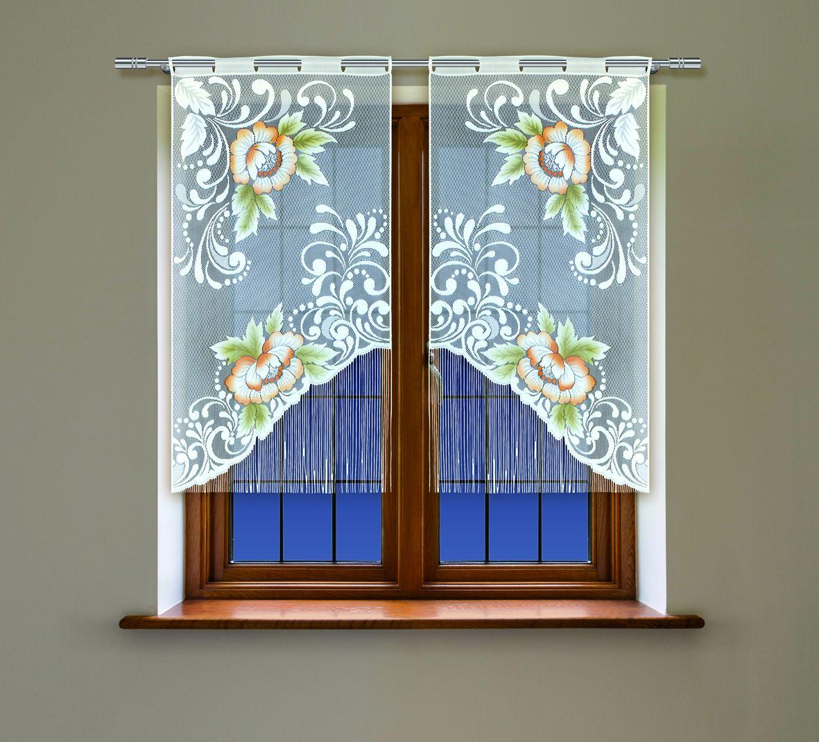 Комплект гардин Haft, на петлях, цвет: белый, высота 160 см, 2 шт. 4219С98299571Воздушные гардины Haft великолепно украсят любое окно. Комплект состоит из двух гардин, выполненных из полиэстера.Изделие имеет оригинальный дизайн и органично впишется в интерьер помещения.Комплект крепится на карниз при помощи петель.