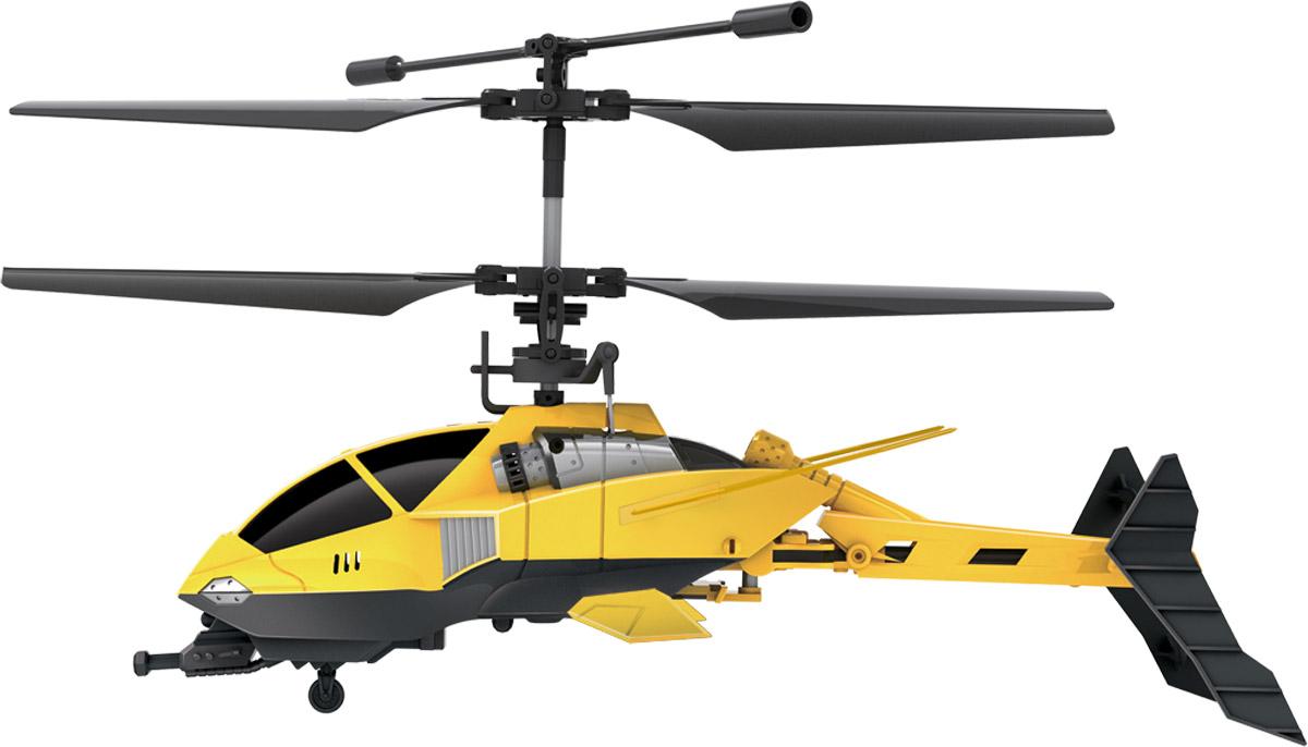 Модель с дистанционным управлением и встроенным электронным гироскопом. (Улучшенная гироскопическая система обеспечивает стабильность положения вертолета воздухе.) Вертолет двигается вверх/вниз, вперед/назад, влево/вправо, выполняет вращение на 360 градусов. Игрушка способствует развитию моторики и логики, учит координации в пространстве, тренирует реакцию и сообразительность. Система трансформации обеспечивает складывание и раскладывание хвостовой части вертолета во время полета. Несущий винт автоматически отключается вместе с системой питания вертолета при ударах о препятствия. Простое управление (на рычажках и кнопки для складывания/раскладывания хвостовой части, индикаторы питания/зарядки). Технические характеристики: Гироскоп. Количество каналов: 3,5. Частота управления: А, В, С. Время полета: 7 мин. Аккумулятор: 3.7В 220мА*ч литиево-полимерный. Время подзарядки: 40 мин. Батарейки для пульта: 6 батареек типа АА. Радиус действия пульта: до 10 м. Длина...