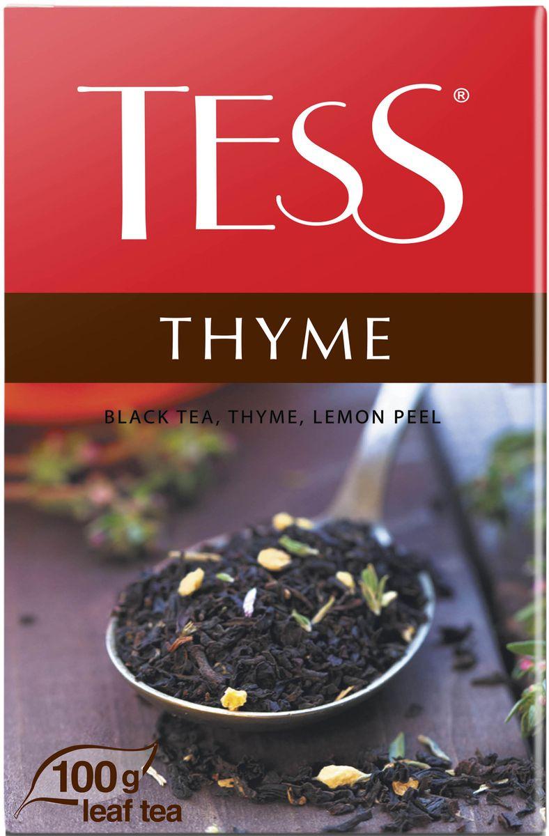 Tess Thyme черный листовой чай с чабрецом и цедрой лимона, 100 г roxy tess