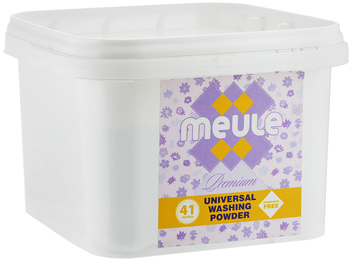Порошок стиральный Meule Premium, концентрат, 1,5 кг7290104930577Универсальный бесфосфатный концентрированный стиральный порошок высокого качества Meule Premium подходит для всех типов стиральных машин. Предназначен для белых и цветных тканей, изделий из хлопка, льна и синтетики. Отстирывает пятна и загрязнения различного происхождения, сохраняя структуру ткани. Препятствует образованию ворсистости (катышков) на одежде. Предотвращает образование накипи. Полностью выполаскивается. Работает в широком диапазоне температур (от +30°С до +90°С).Упаковка стирального порошка, при полной загрузке стиральной машины (5 кг), рассчитана на 41 стирку.Состав: Товар сертифицирован.
