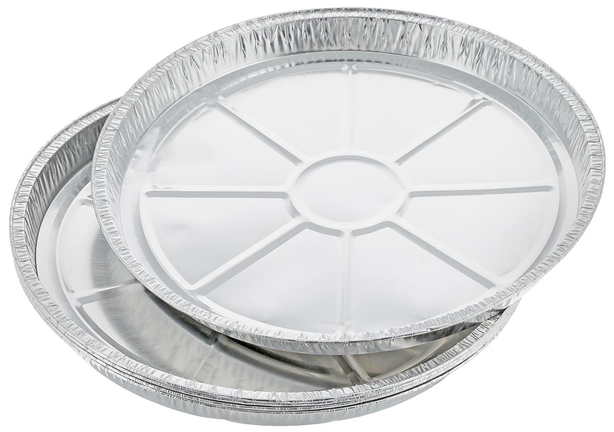 Набор форм для запекания Marmiton, диаметр 27,5 см, 5 шт93-SI-FO-09Набор форм Marmiton, выполненный из алюминиевой фольги, идеально подходит для запекания, обжарки, хранения и замораживания продуктов, а также быстрого разогрева приготовленных блюд. Изделия обладают всеми свойствами обычной фольги для запекания: гигиеничные, легкие, прочные, теплопроводные.Использовать для запекания на гриле и в духовой печи (до +280°C), для замораживания (до -40°C).