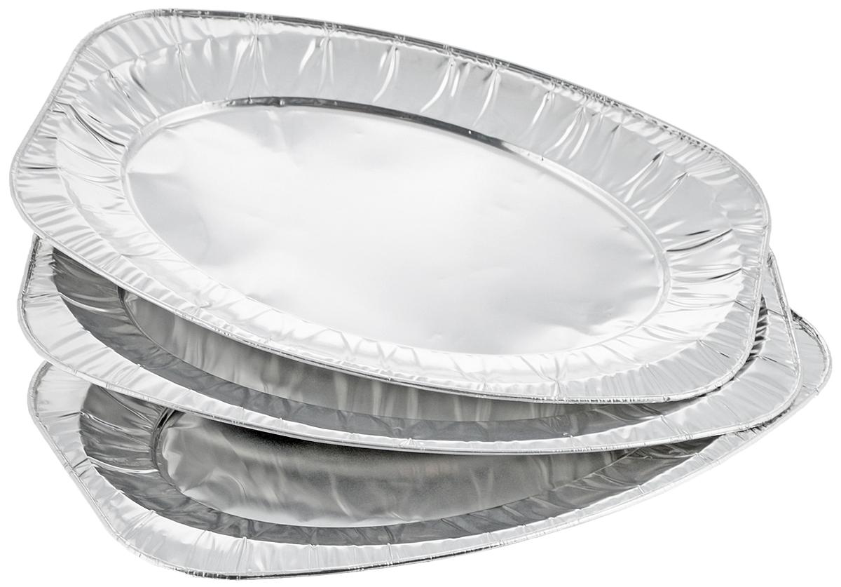Набор форм для запекания Marmiton, 42,5 х 28 х 2,9 см, 3 штРАД00000347_кирпичныйНабор форм Marmiton, выполненный из алюминиевой фольги, идеально подходит для запекания, обжарки, хранения и замораживания продуктов, а также быстрого разогрева приготовленных блюд. Изделия обладают всеми свойствами обычной фольги для запекания: гигиеничные, легкие, прочные, теплопроводные.Использовать для запекания на гриле и в духовой печи (до +280°C), для замораживания (до -40°C).
